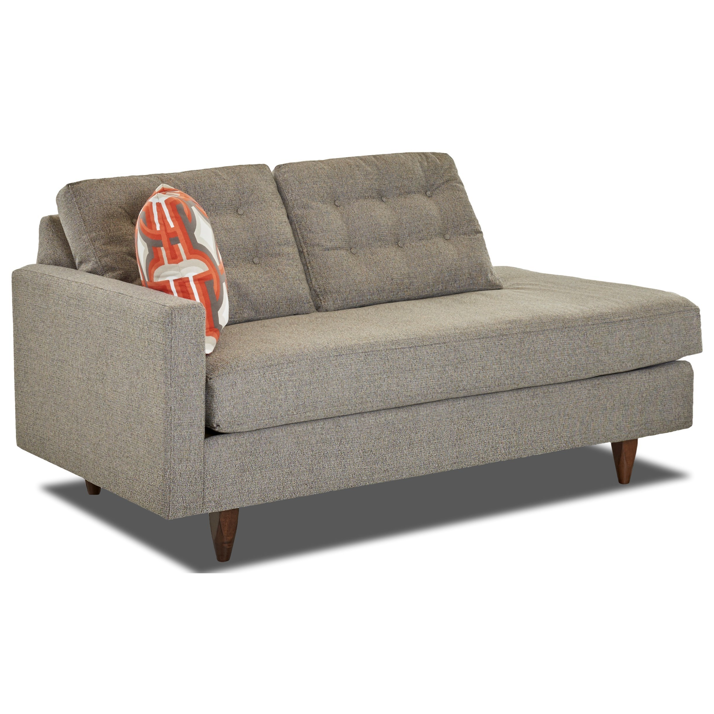 Contemporary Left-Arm-Facing Chaise Lounge with Tufted Back