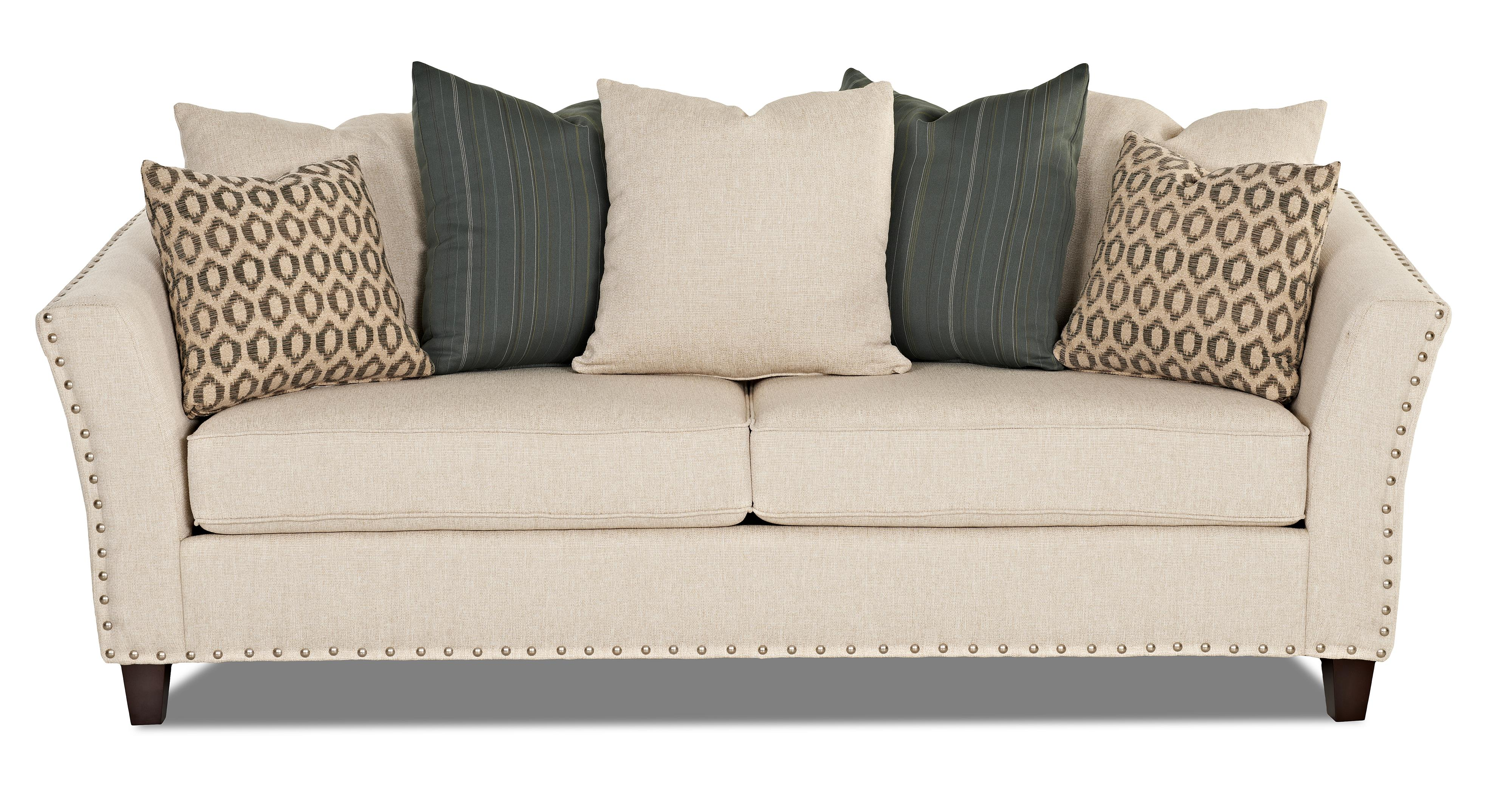 Contemporary Sofa with Nailhead Trim by Klaussner