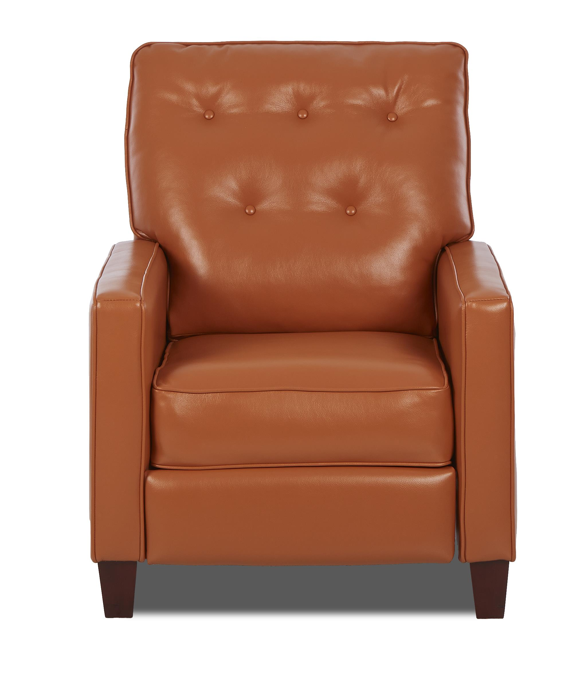 High leg reclining chairs - Traditional High Leg Reclining Chair With Tufted Seat Back