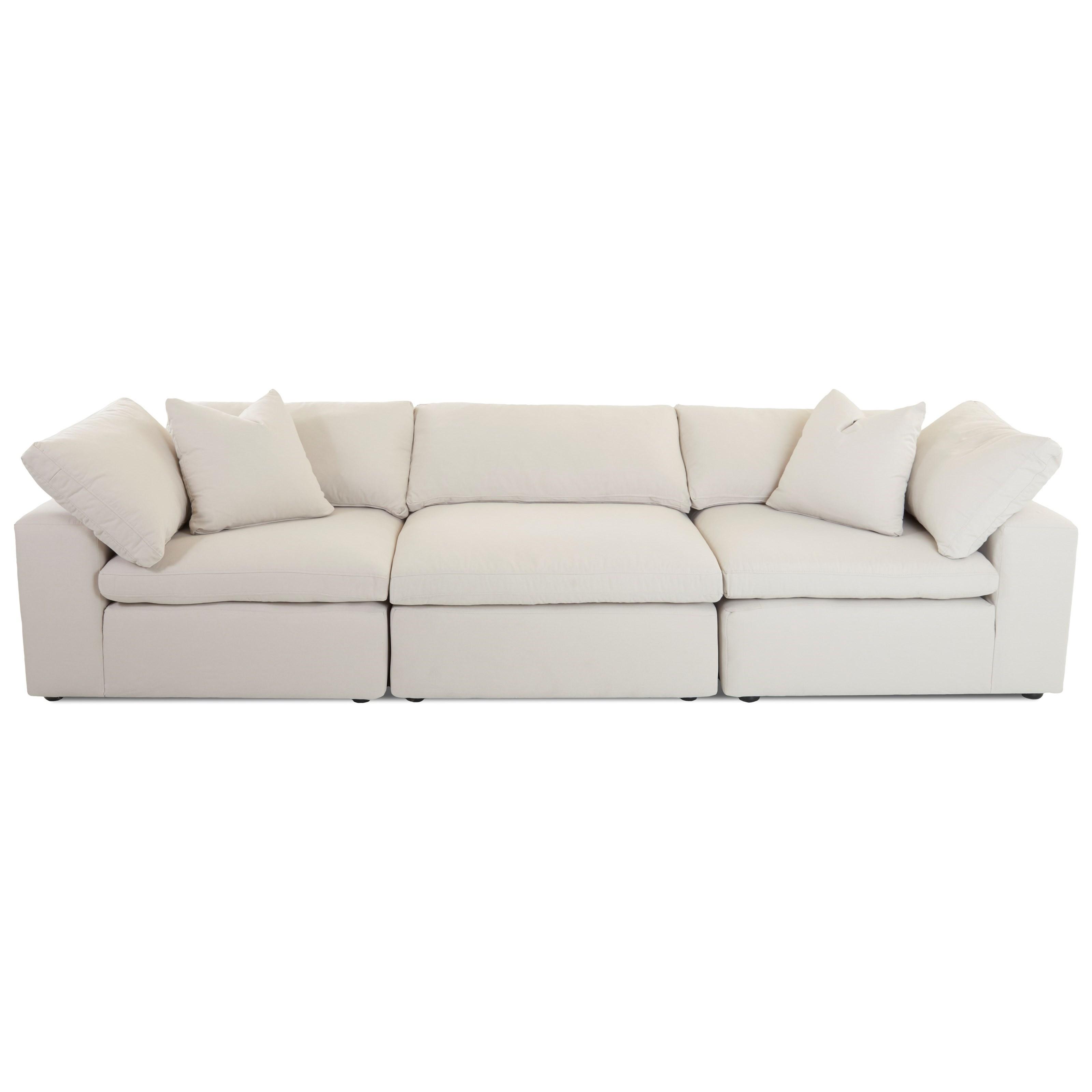 Contemporary 3 Pc Modular Sofa