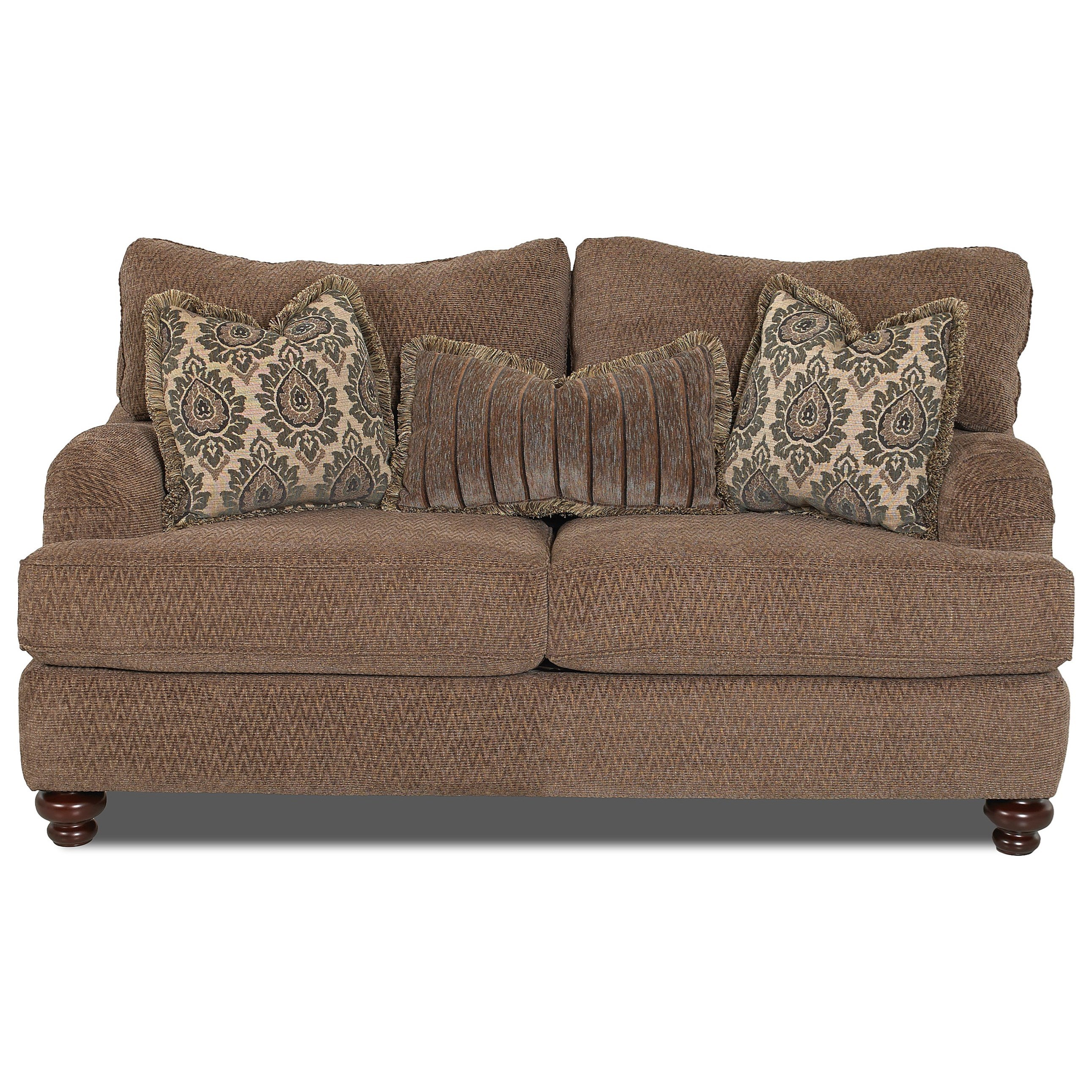 Traditional Loveseat with English Arms