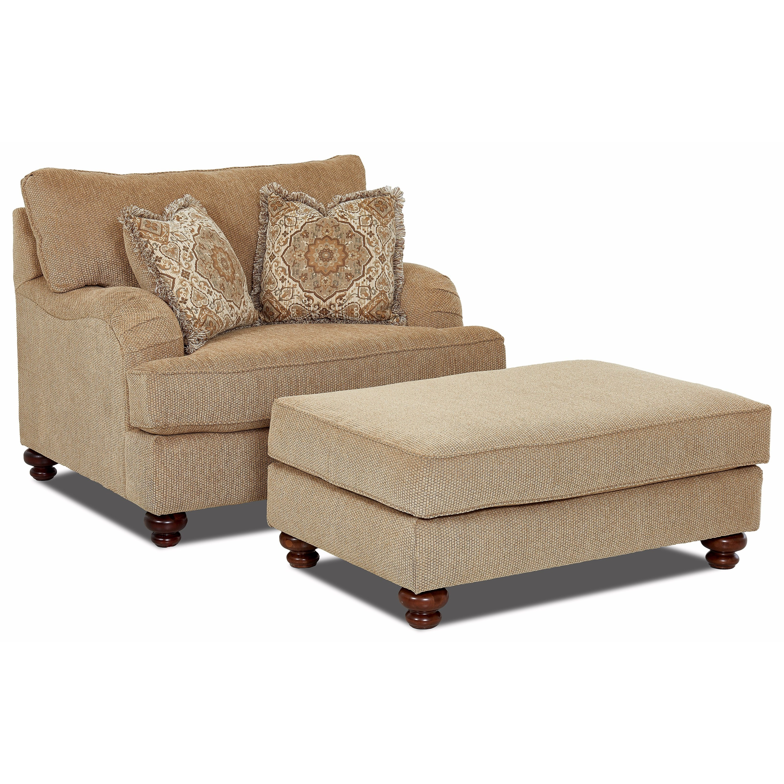 Oversized Chair And Ottoman Set By Klaussner Wolf And Gardiner