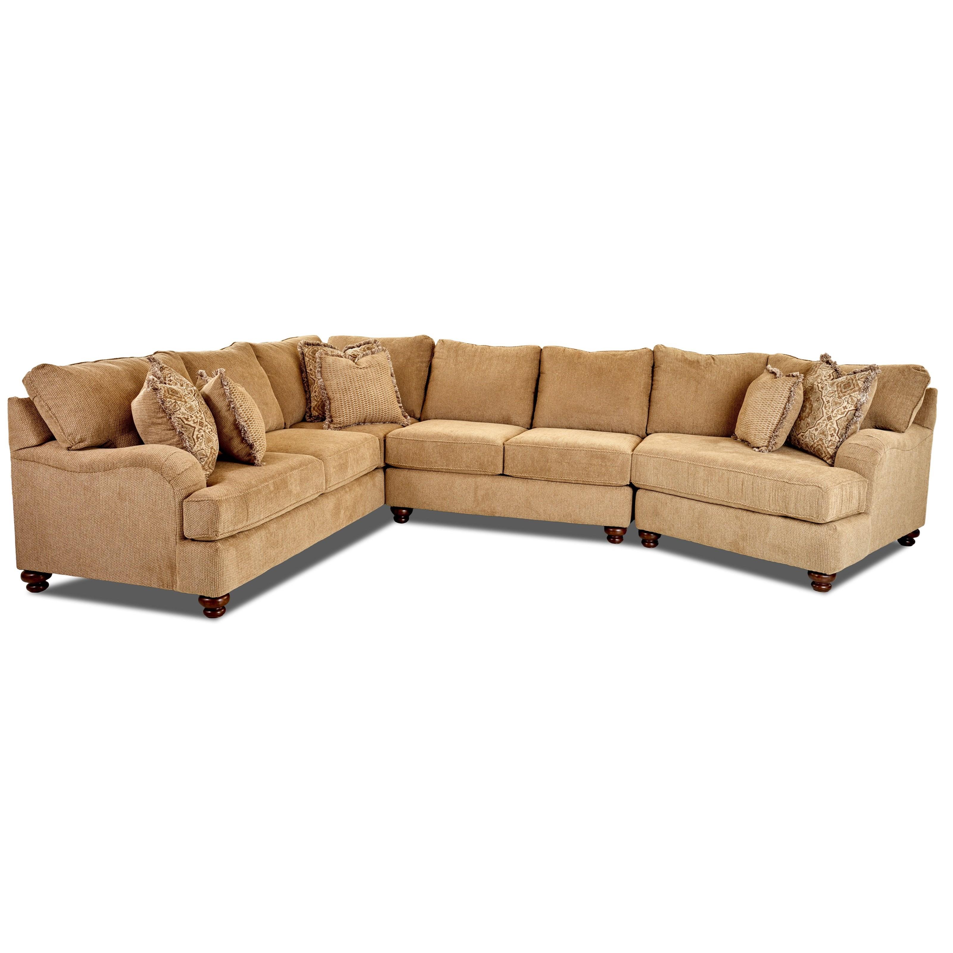 Three Piece Sectional Sofa with RAF Cuddler