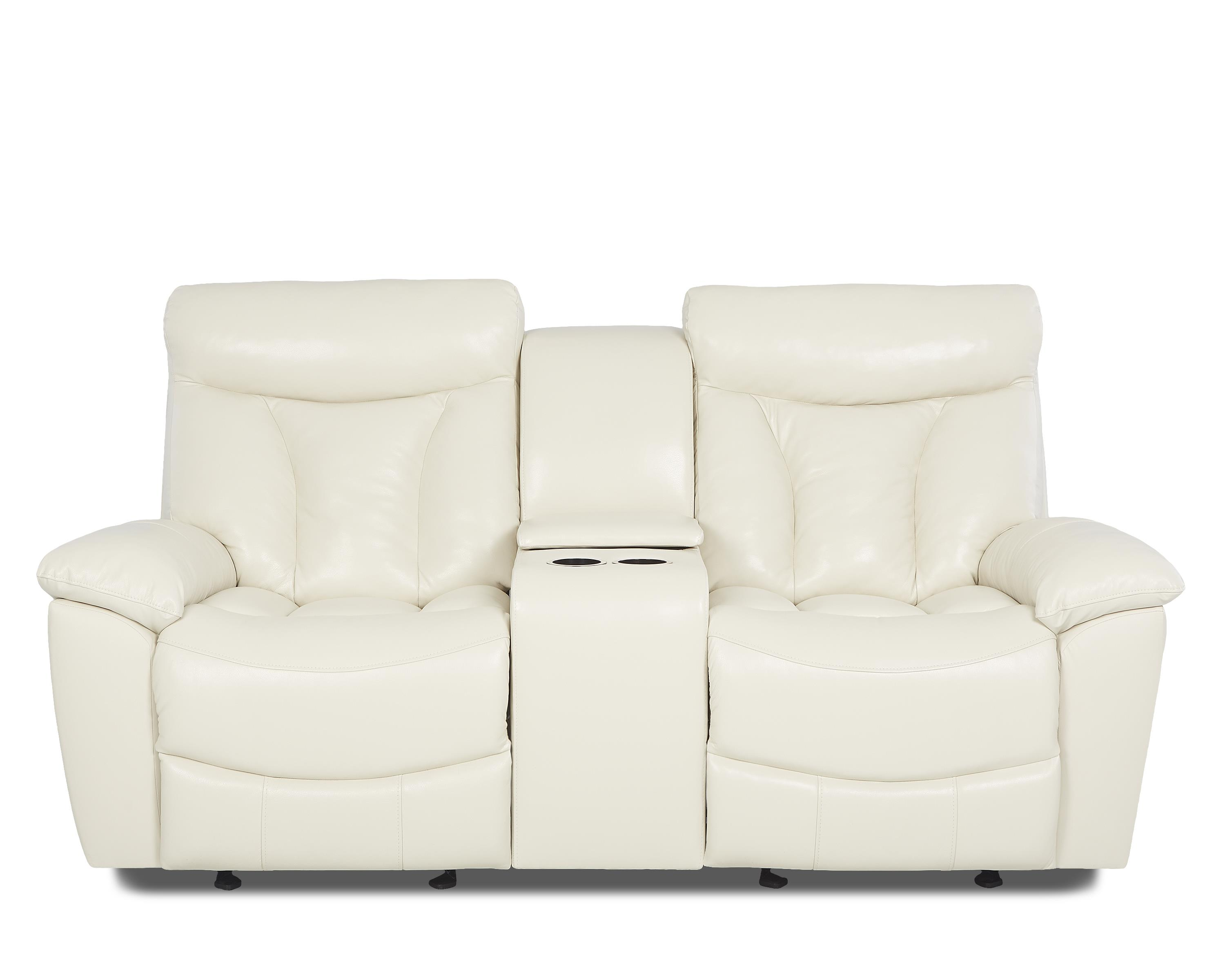 Gliding Reclining Love Seat with Console