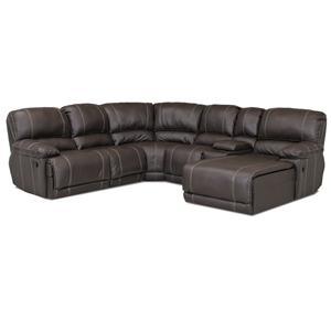 Klaussner Derek Casual Reclining Sectional Sofa