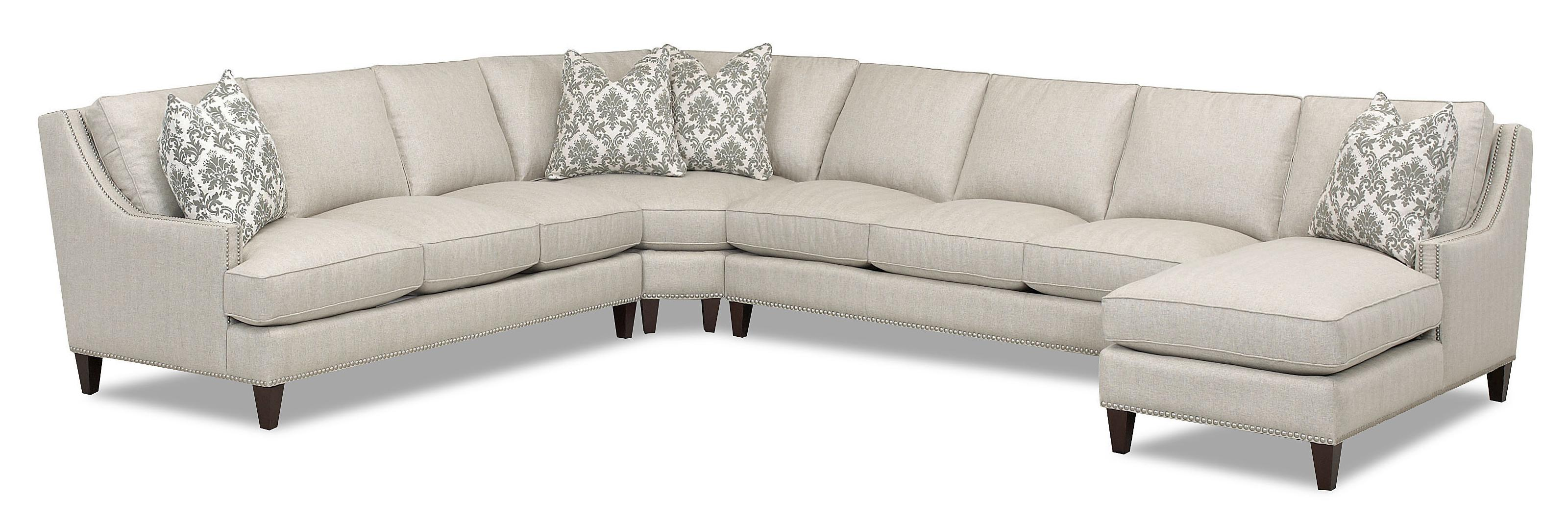 Transitional 4 Piece Sectional with Chaise by Klaussner