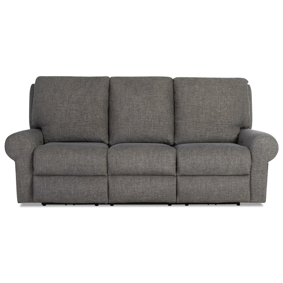 Casual Tailored Power Reclining Sofa with Kool Gel Cushions and Power Headrests