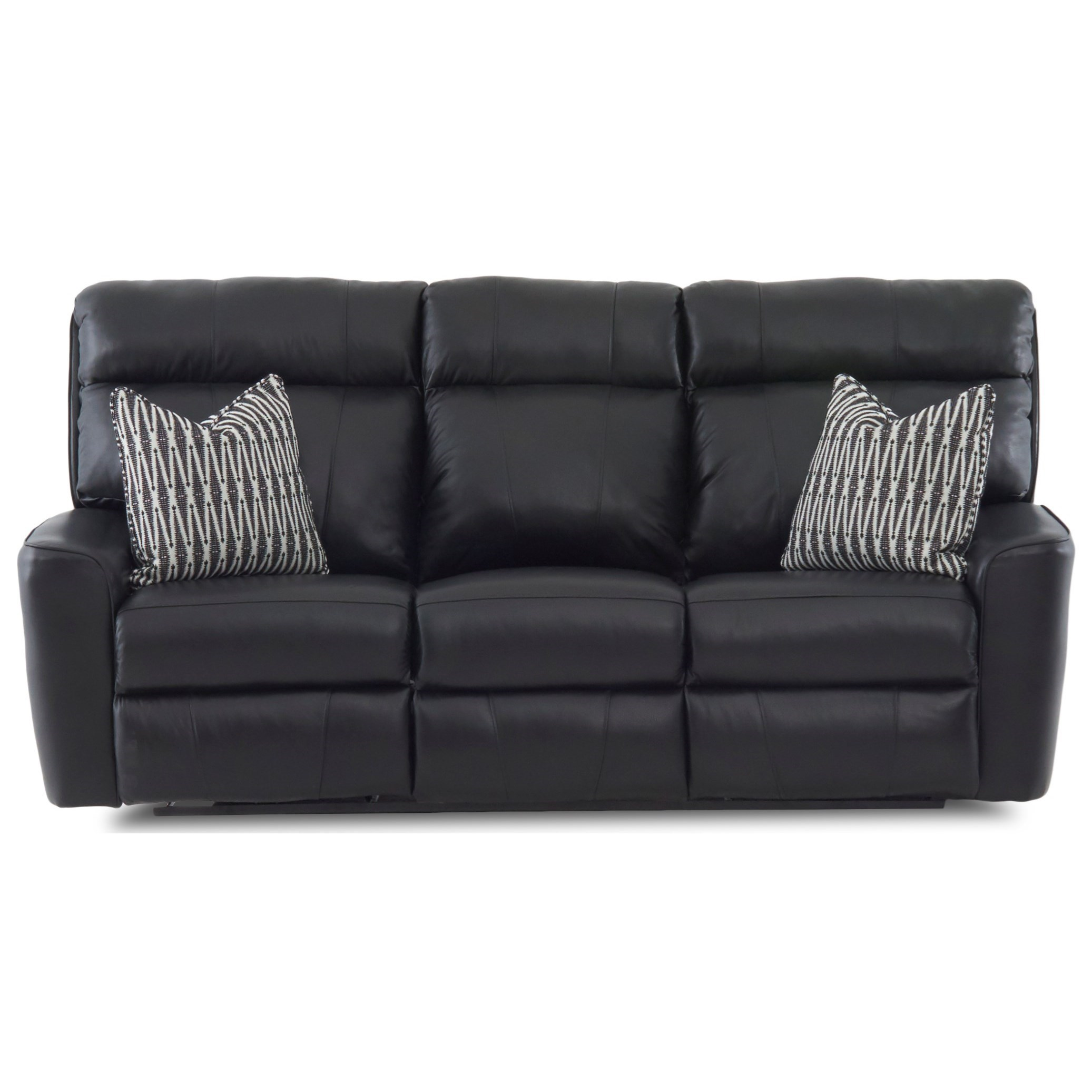Casual Power Reclining Sofa with Pillows and USB Charging Ports