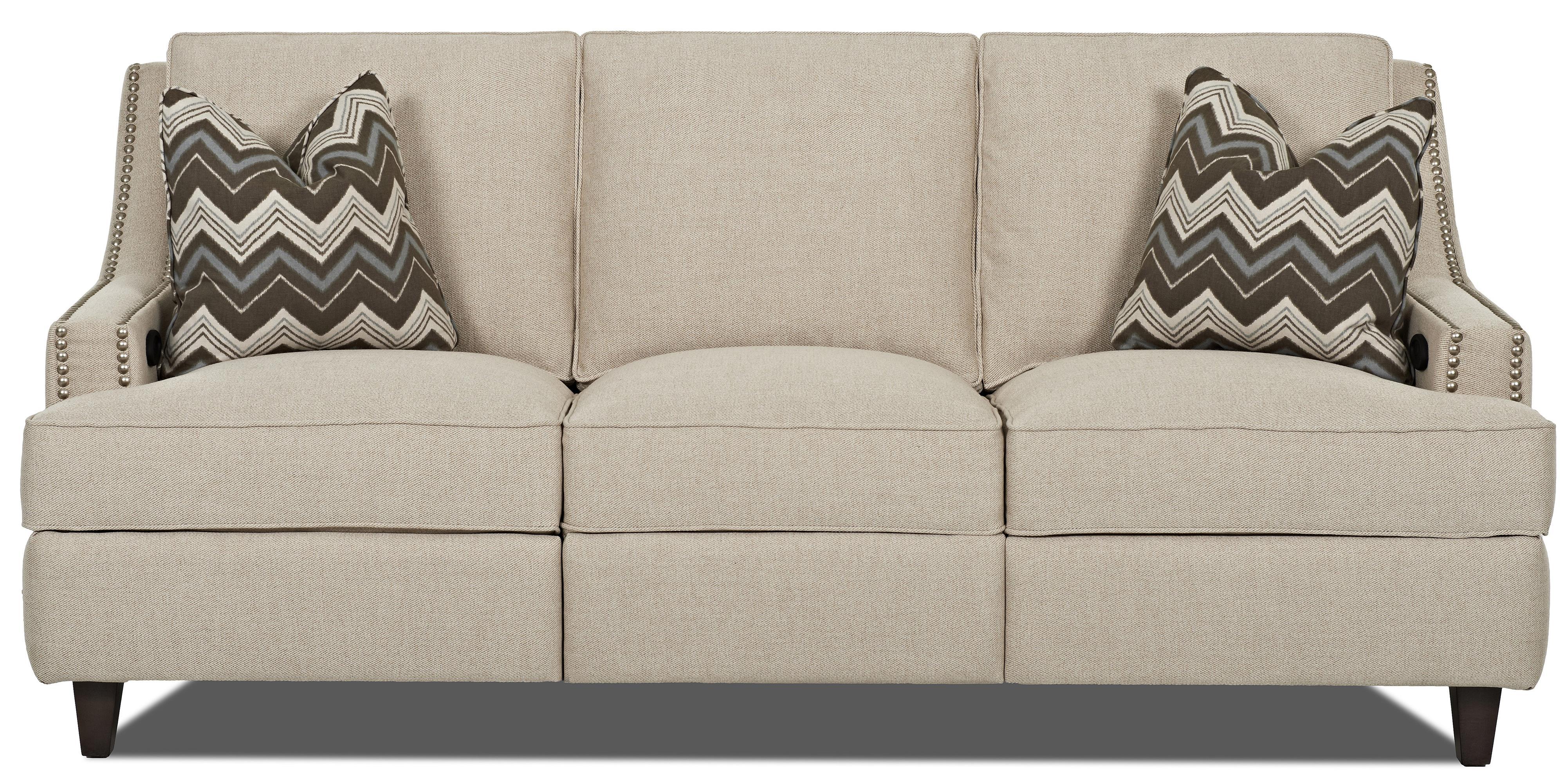 Transitional Power Hybrid Sofa