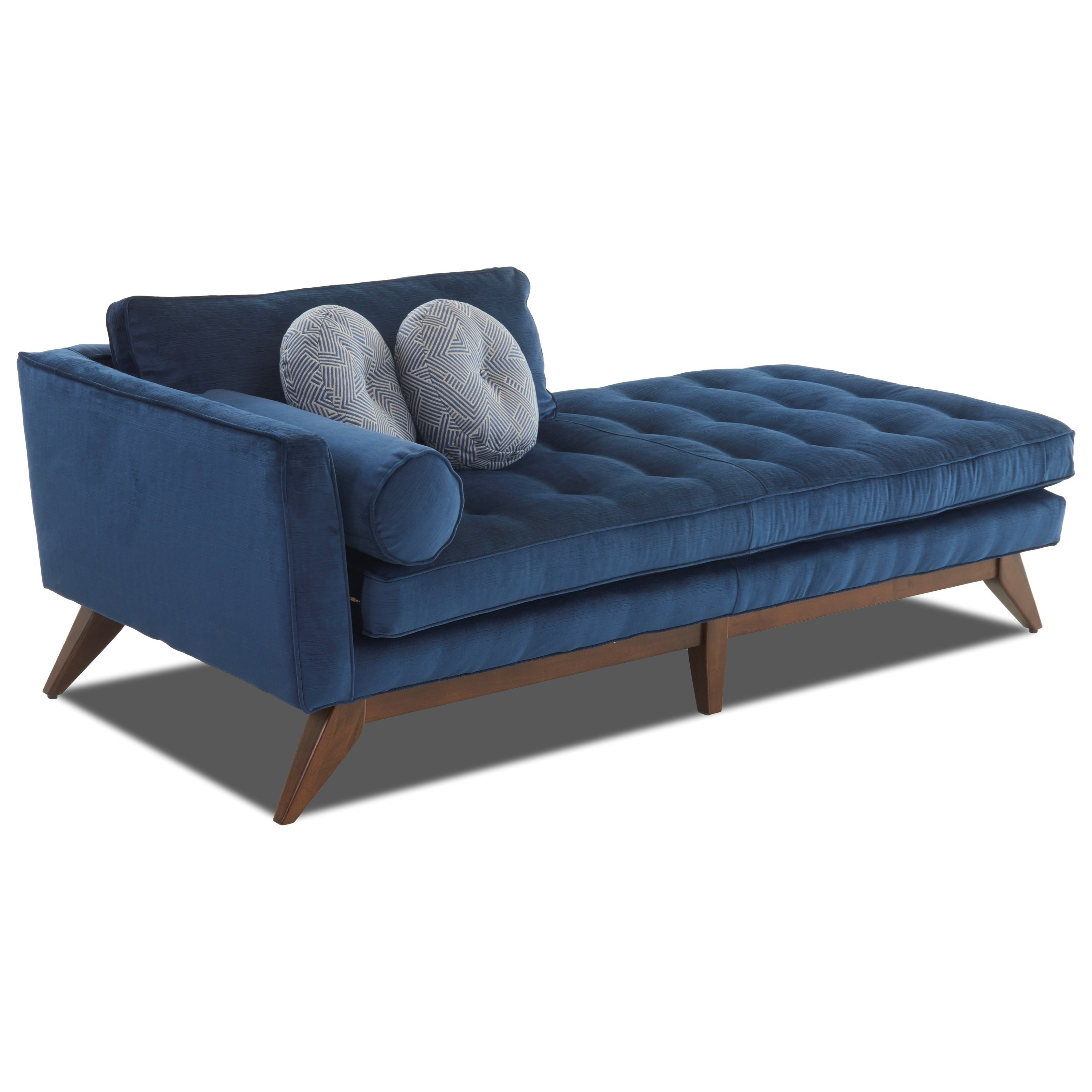 Mid-Century Modern Chaise Lounge with Left-Facing Arm
