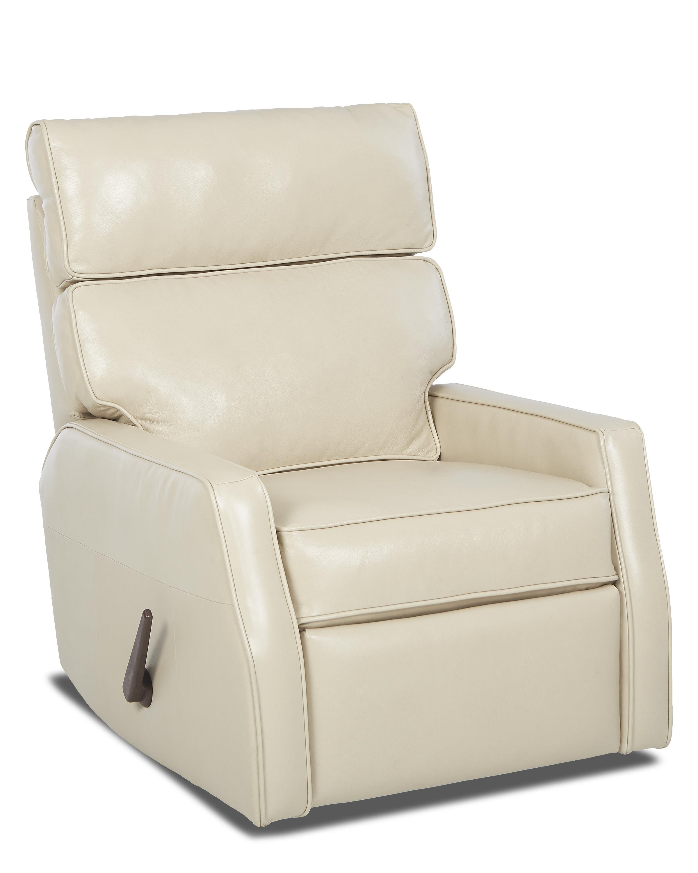 Contemporary Swivel Rocking Reclining Chair by Klaussner