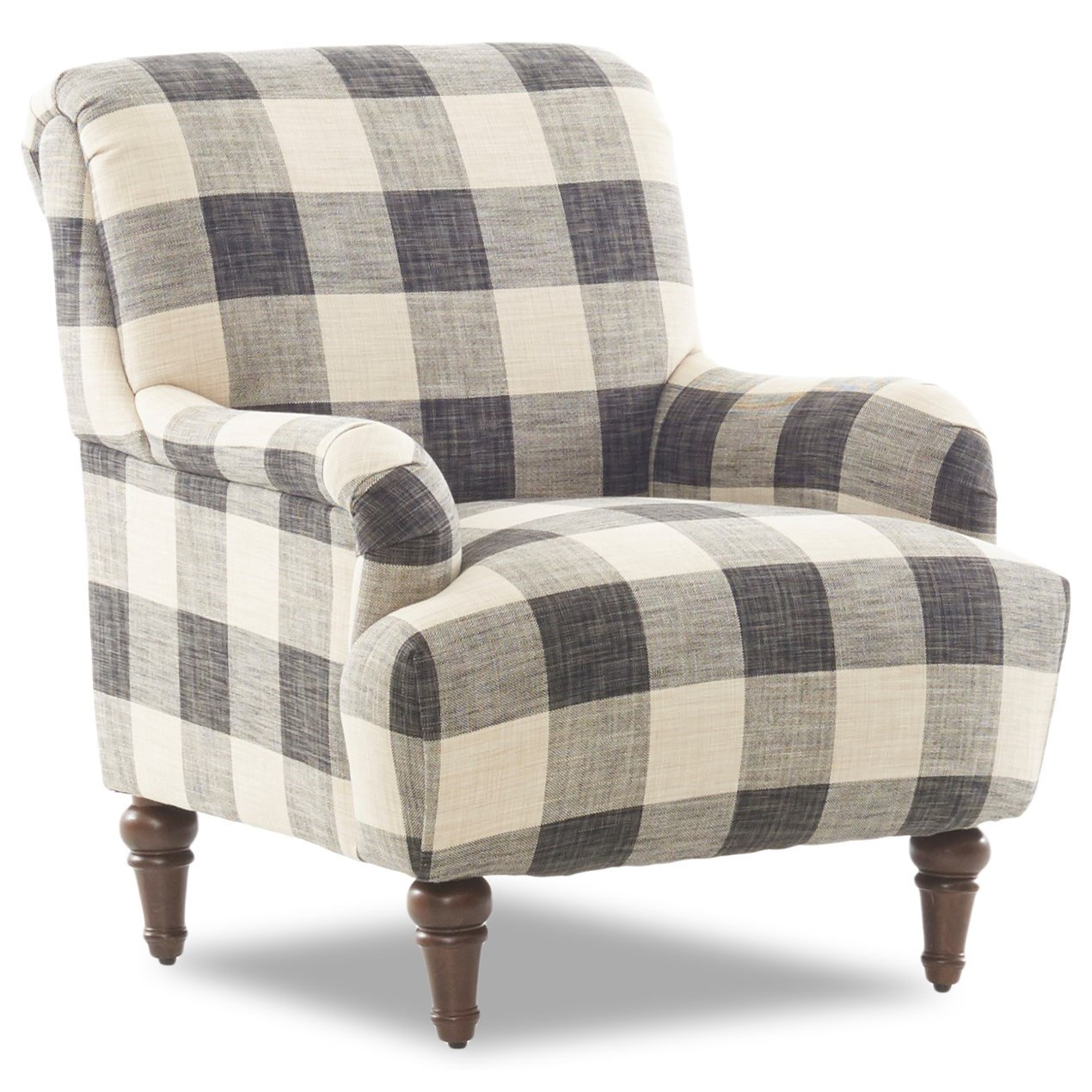 Occasional Chair with Turned Legs