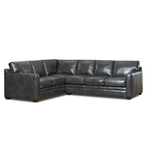 Simple Elegance Fedora 2 Pc Sectional Sofa