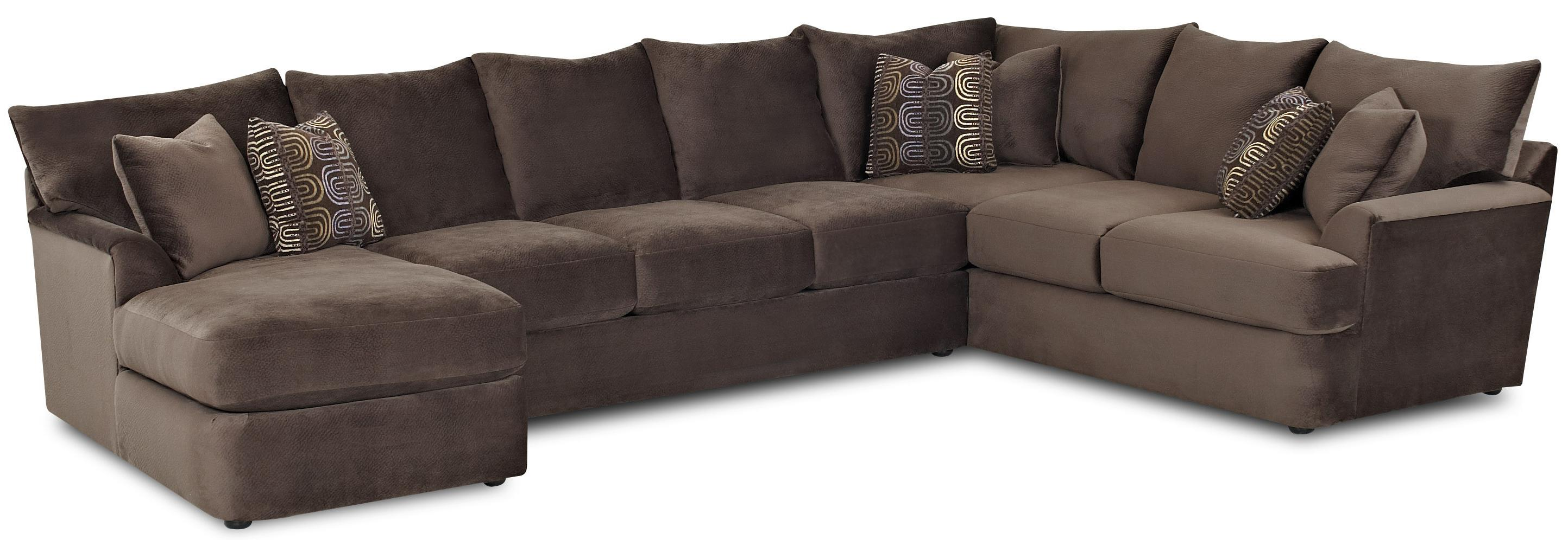 L Shaped Sectional Sofa with Left Chaise by Klaussner