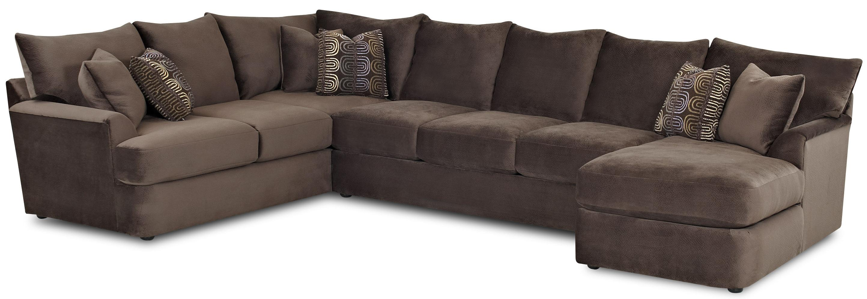 L Shaped Sectional Sofa With Right Chaise By Klaussner