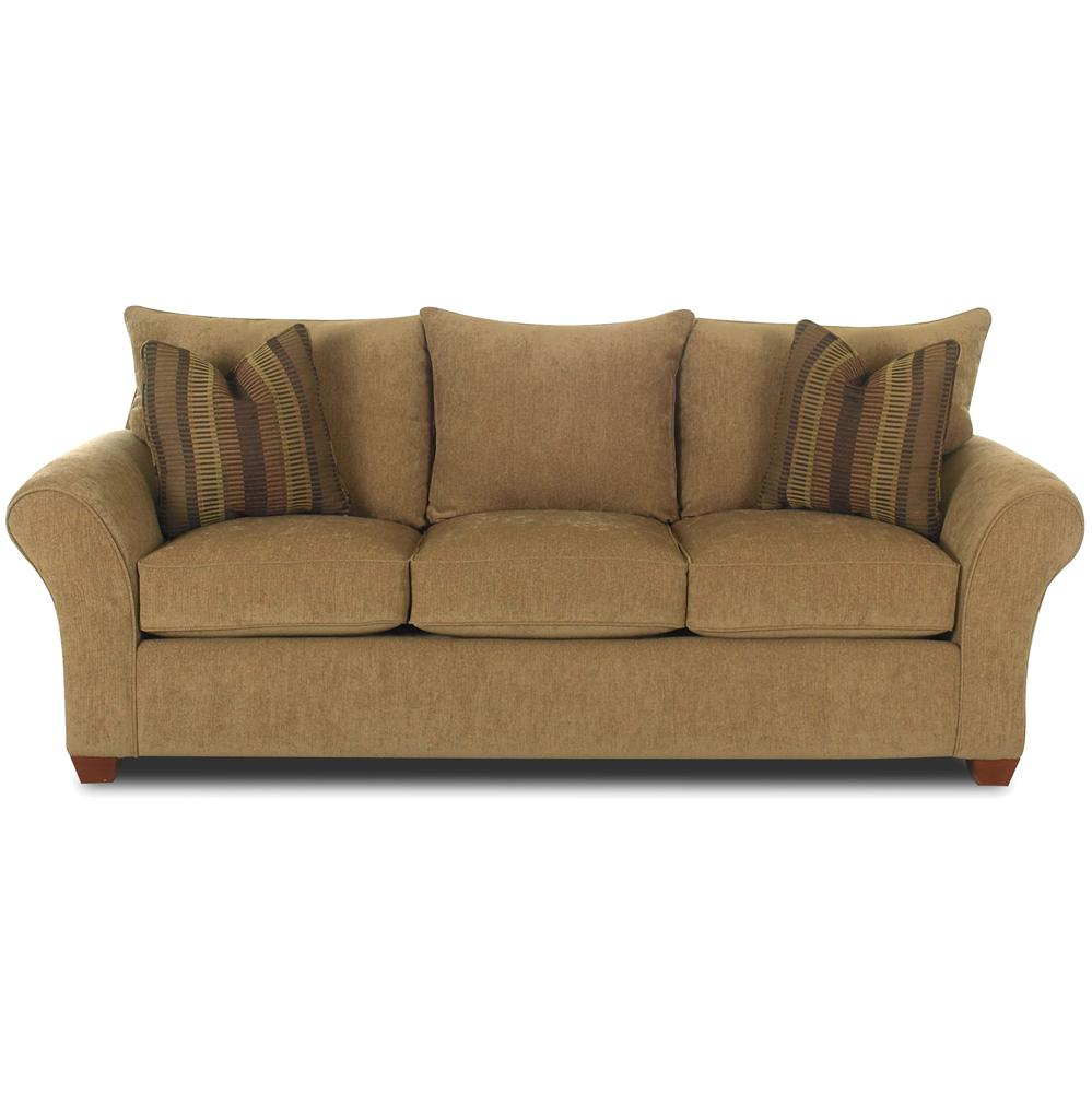 Comfortable Stationary Couch By Klaussner Wolf Furniture