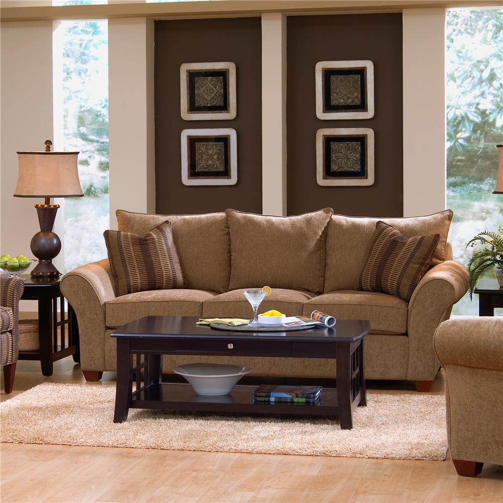 Comfortable Stationary Couch By Klaussner Wolf And