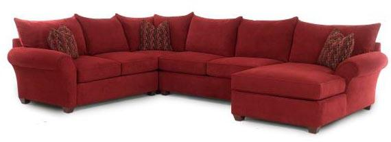 Spacious Sectional with Chaise Lounge