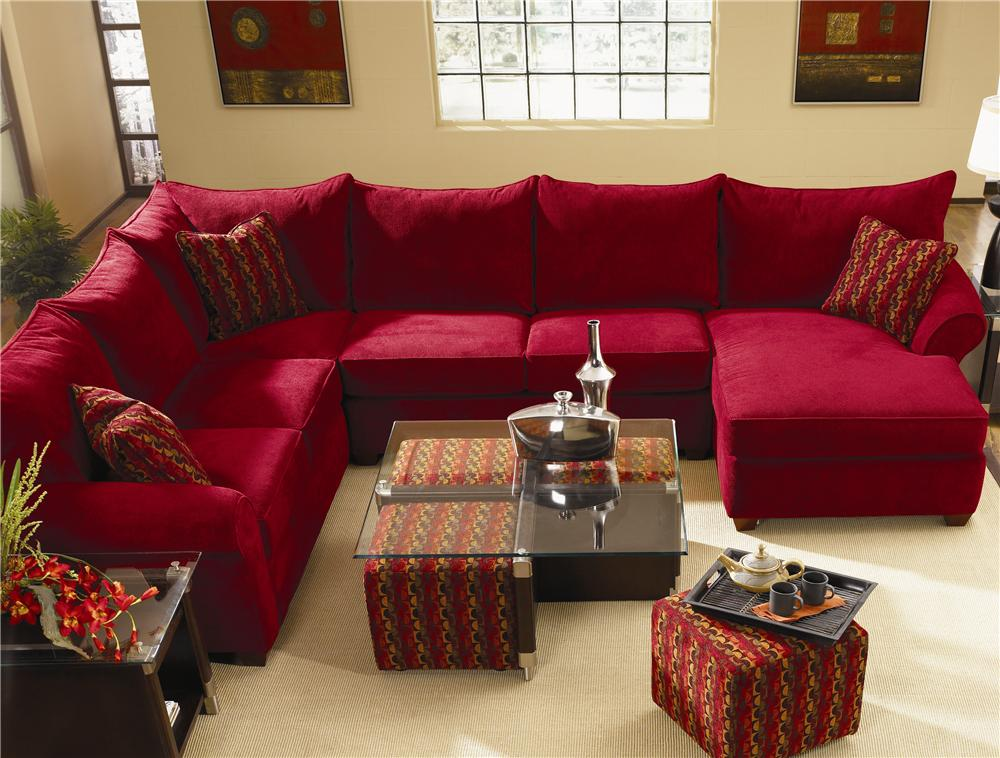 Spacious Sectional With Chaise Lounge By Klaussner Wolf