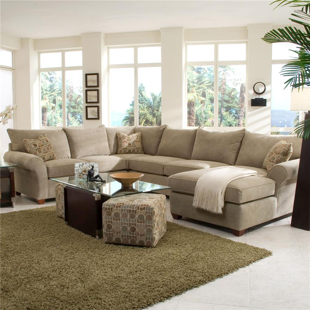 Spacious Sectional with Chaise Lounge by Klaussner | Wolf and ...
