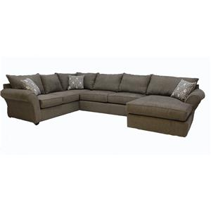 Klaussner Fletcher 3 pc Sectional Sofa
