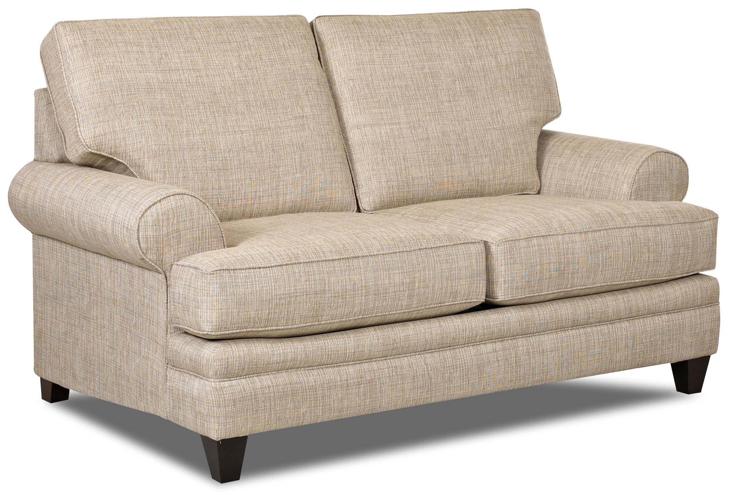 Transitional Loveseat With Low Profile Rolled Arms By Klaussner Wolf And Gardiner Wolf Furniture