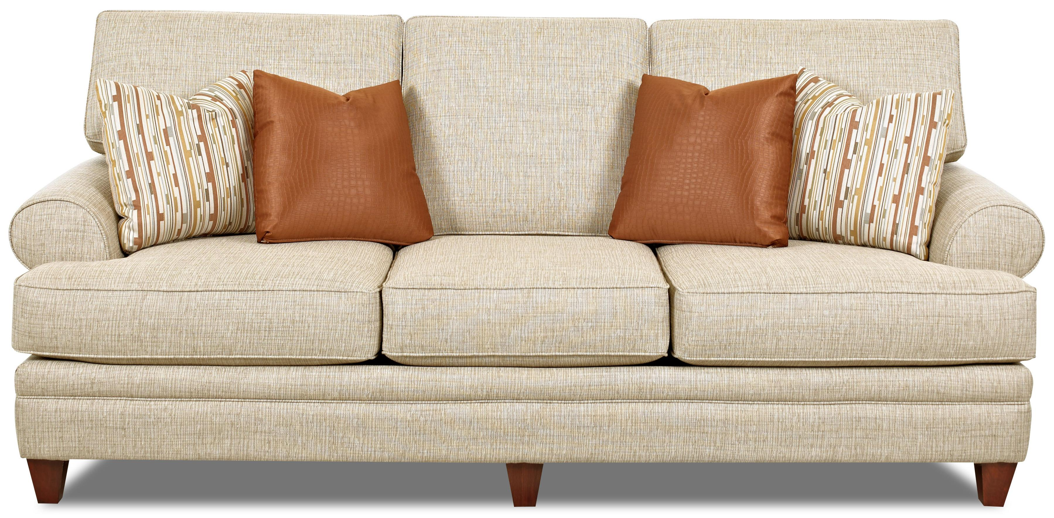 low profile sofa. Transitional Sofa With Low Profile Rolled Arms
