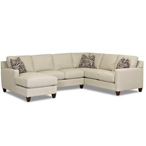 Klaussner Fuller Stationary Sectional