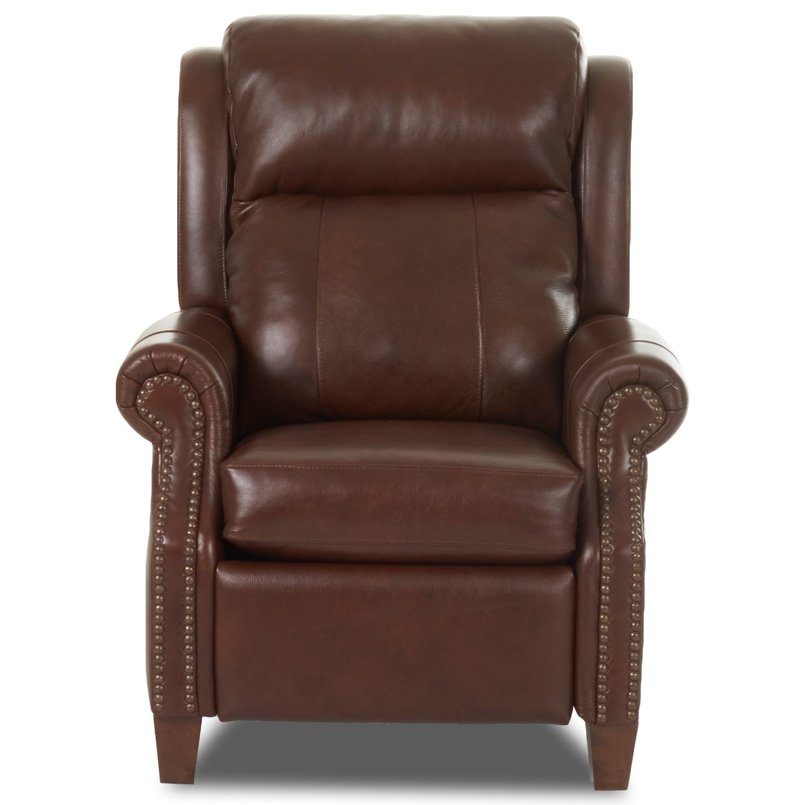 Traditional Power High Leg Recliner with Nailheads