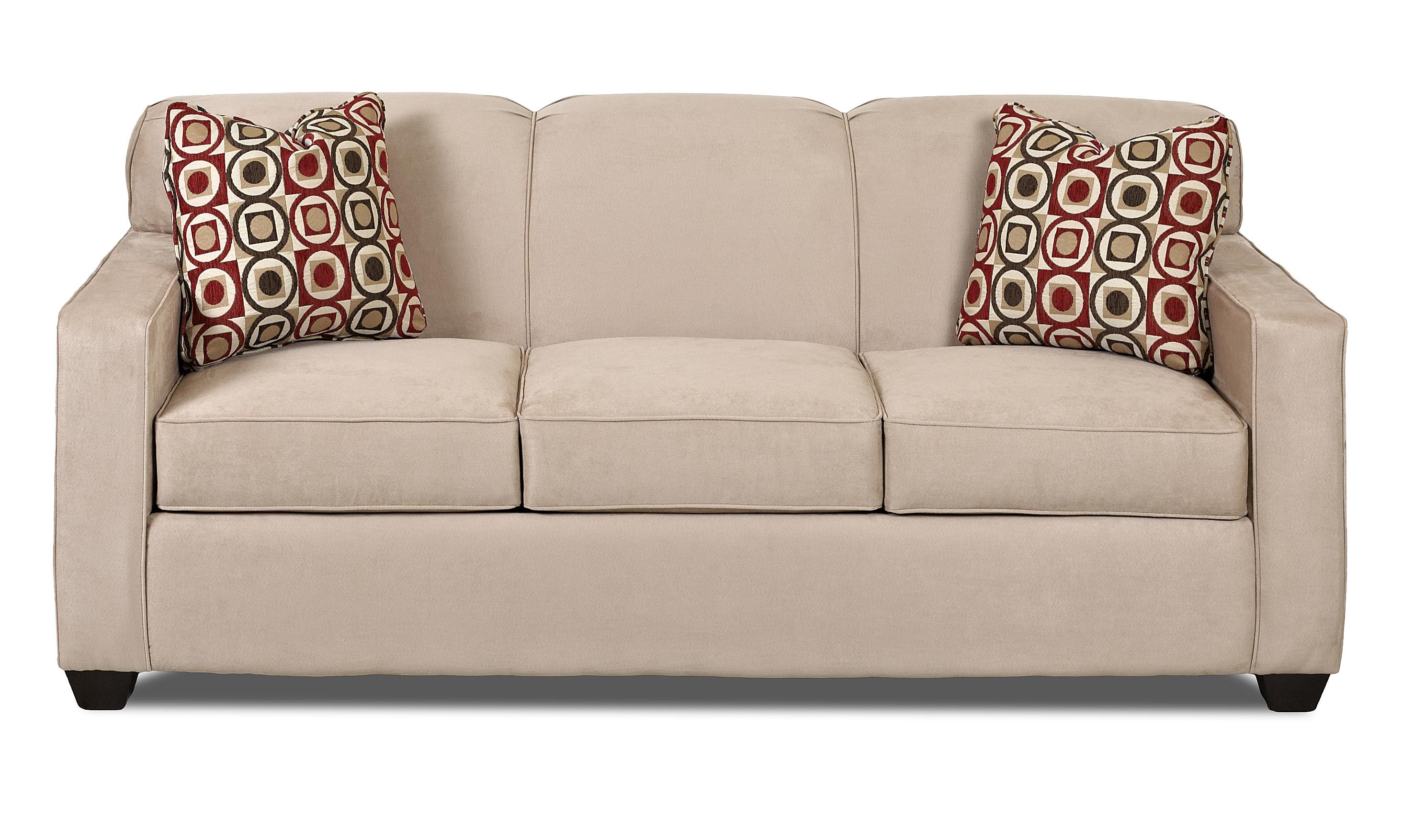 Contemporary Sofa with Tight Back and Track Arms by Klaussner