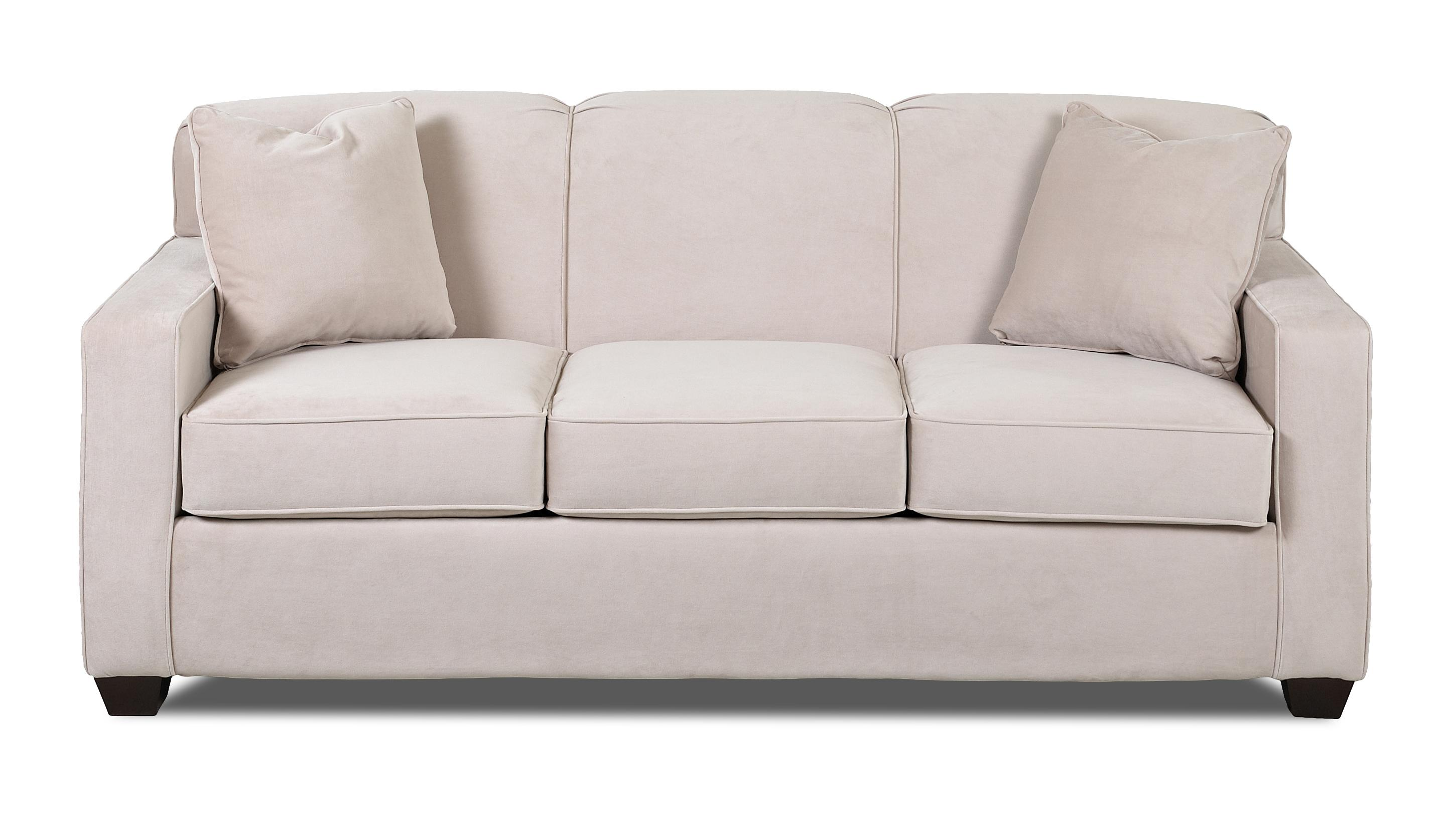 Contemporary Sofa With Tight Back And Track Arms By