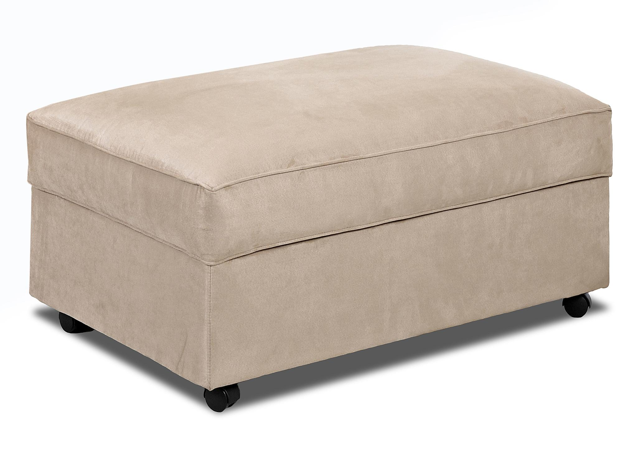 Storage Ottoman With Lift Top And Casters By Klaussner