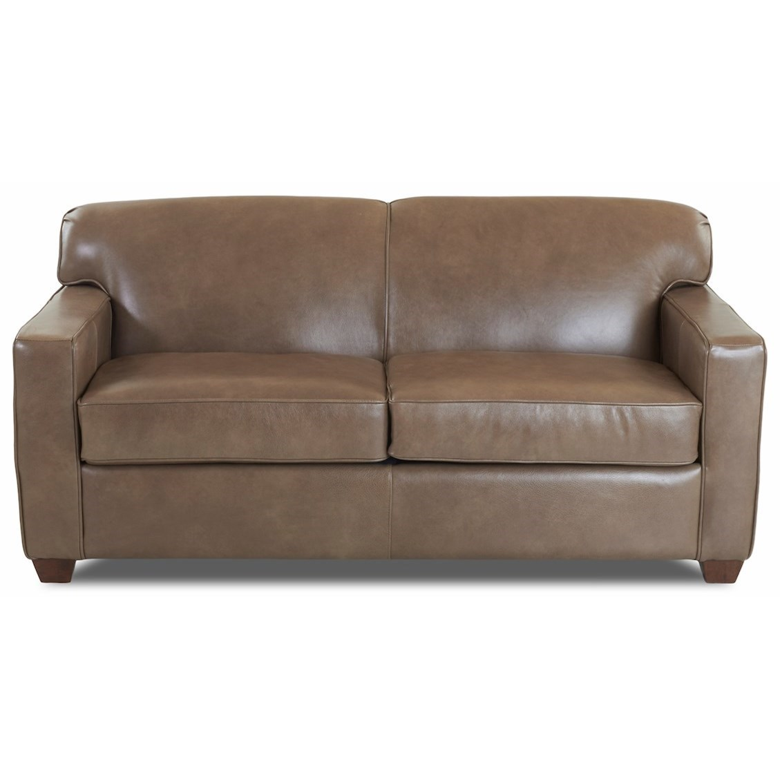 Leather Enso Memory Foam Regular Sleeper