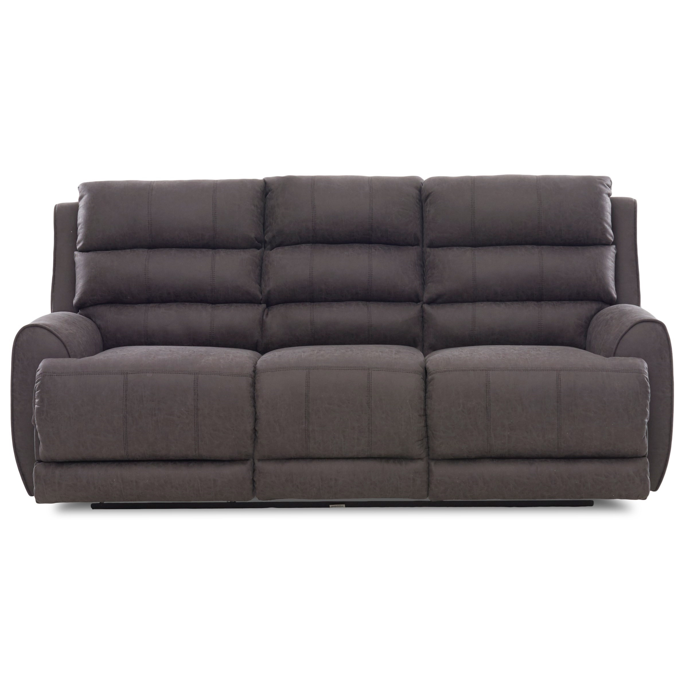 Contemporary Power Reclining Sofa with Power Headrest/Lumbar, USB Ports, Bluetooth Functionality