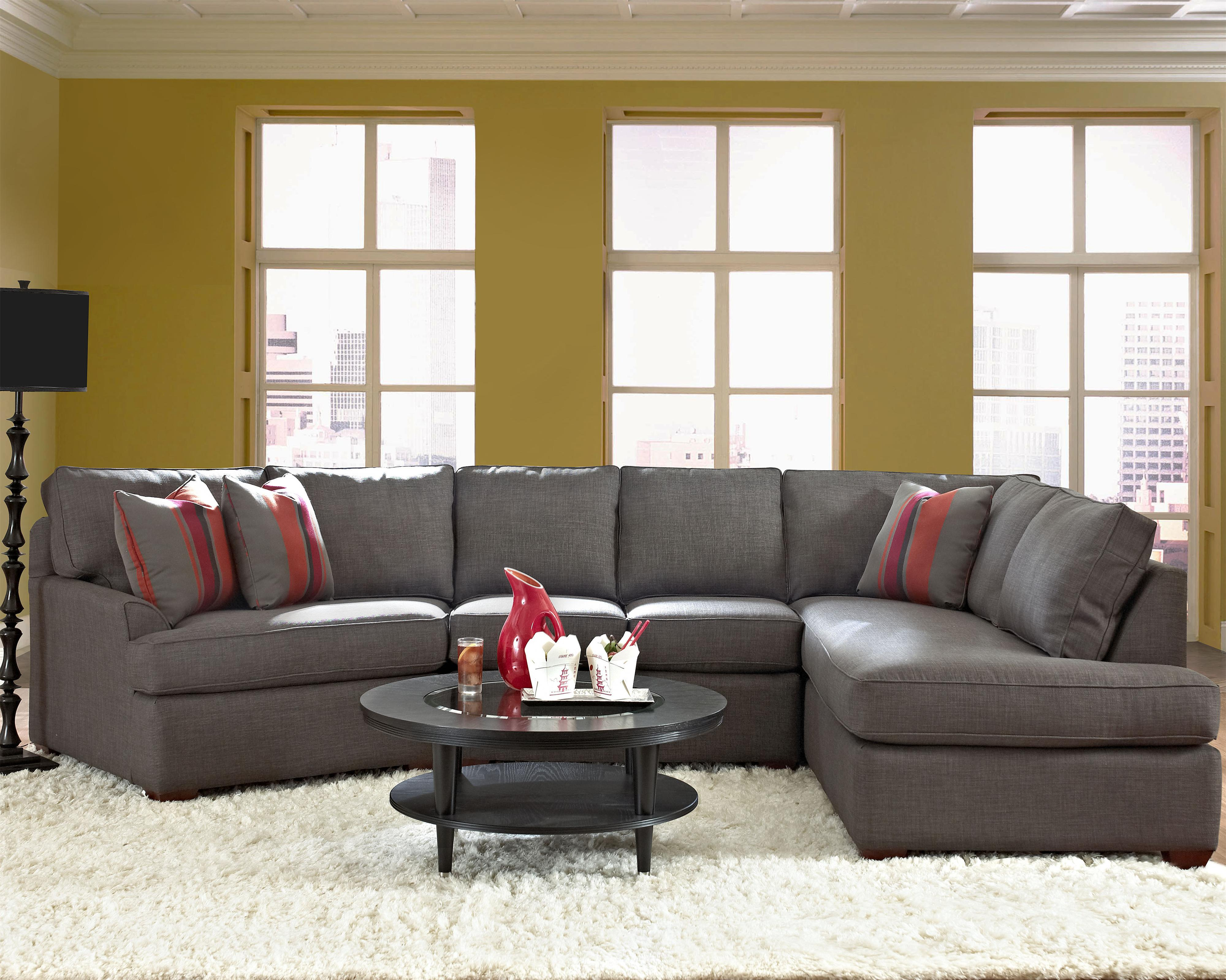 Modern Furniture Harrisburg Pa contemporary sectional sofa with right chaiseklaussner | wolf
