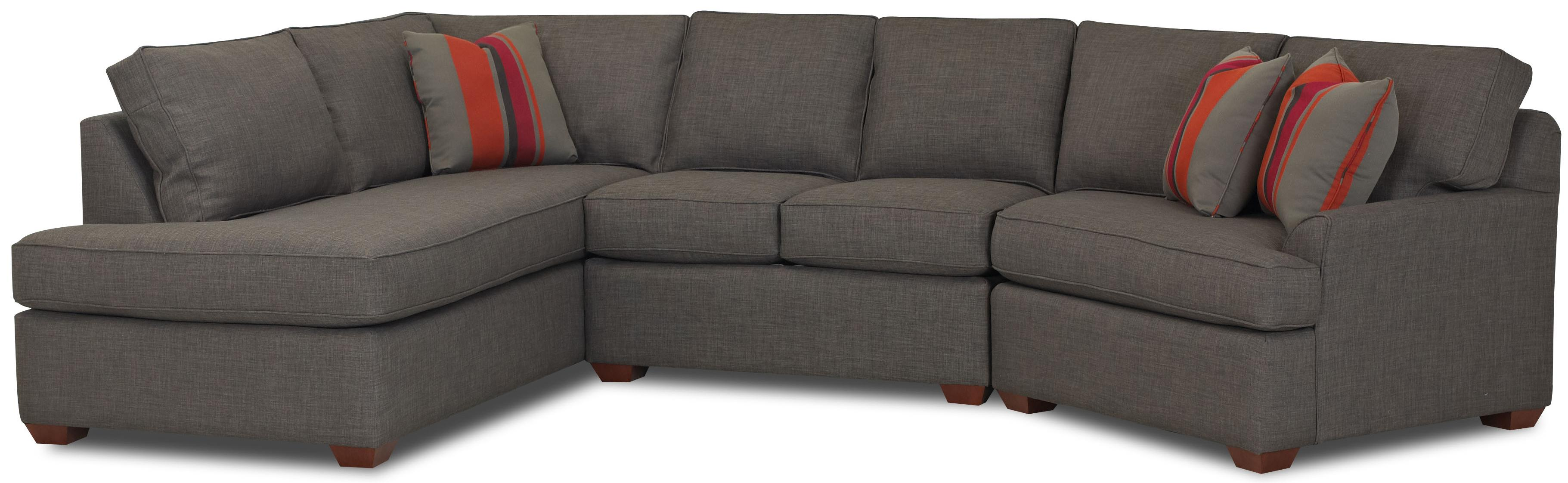 Contemporary Sectional Sofa with Right Chaise