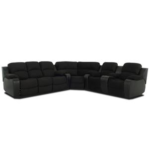 Simple Elegance Grand  Reclining Sectional Sofa