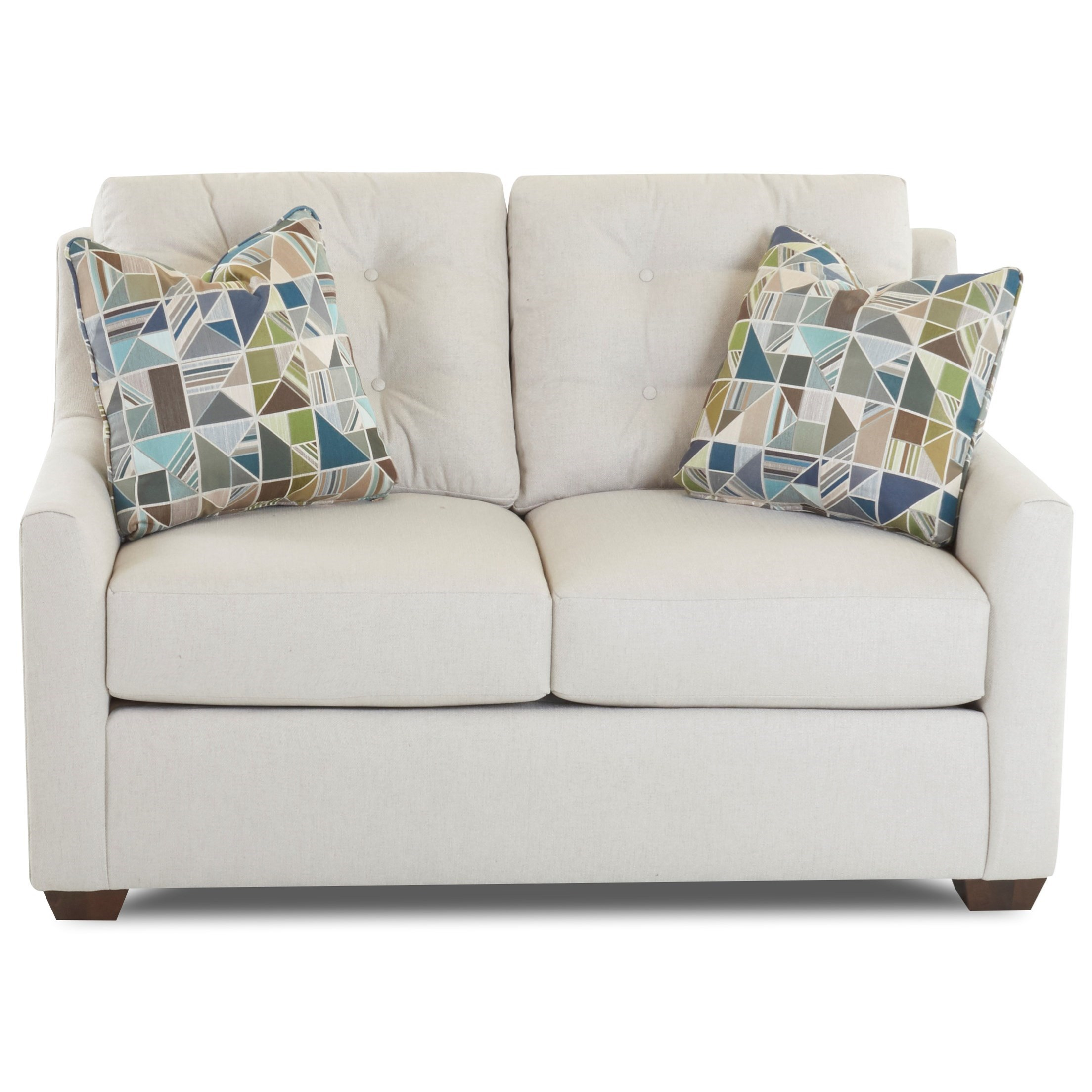Loveseat with Button Tufting and InnerSpring Cushions