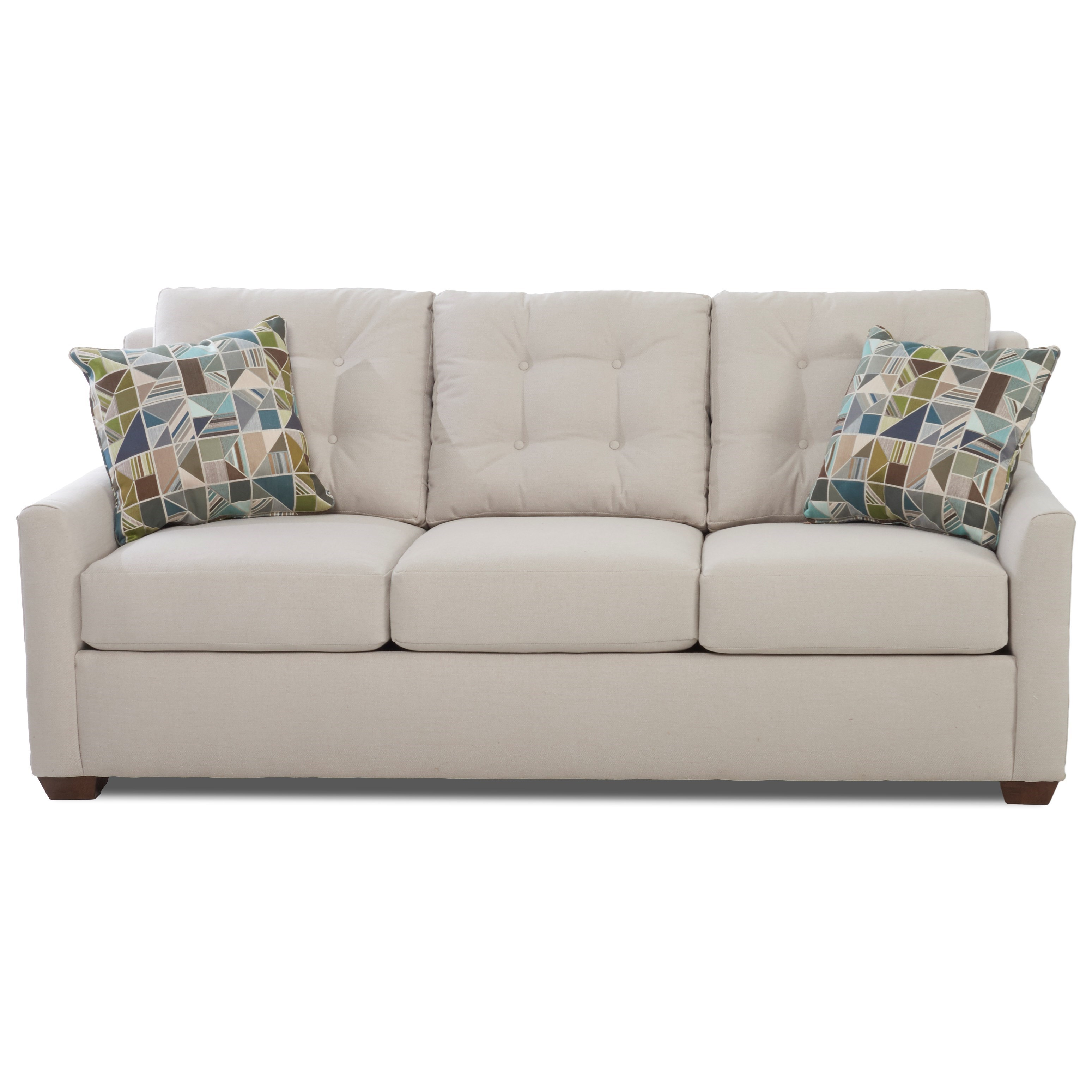 Queen Dreamquest Sleeper Sofa with Button Tufting and Innerspring Support
