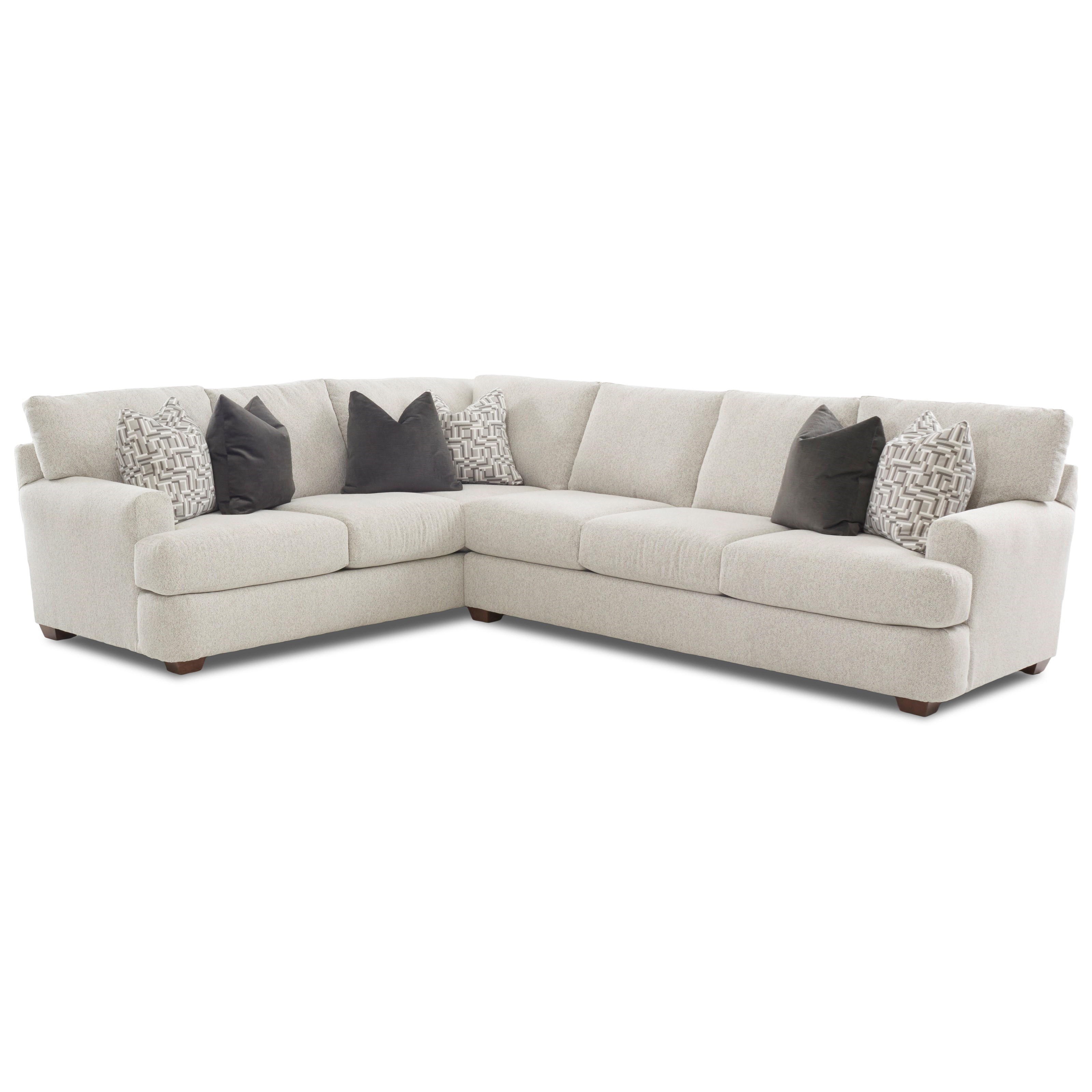 Two Piece Sectional Sofa with LAF Corner Sofa by Klaussner | Wolf ...