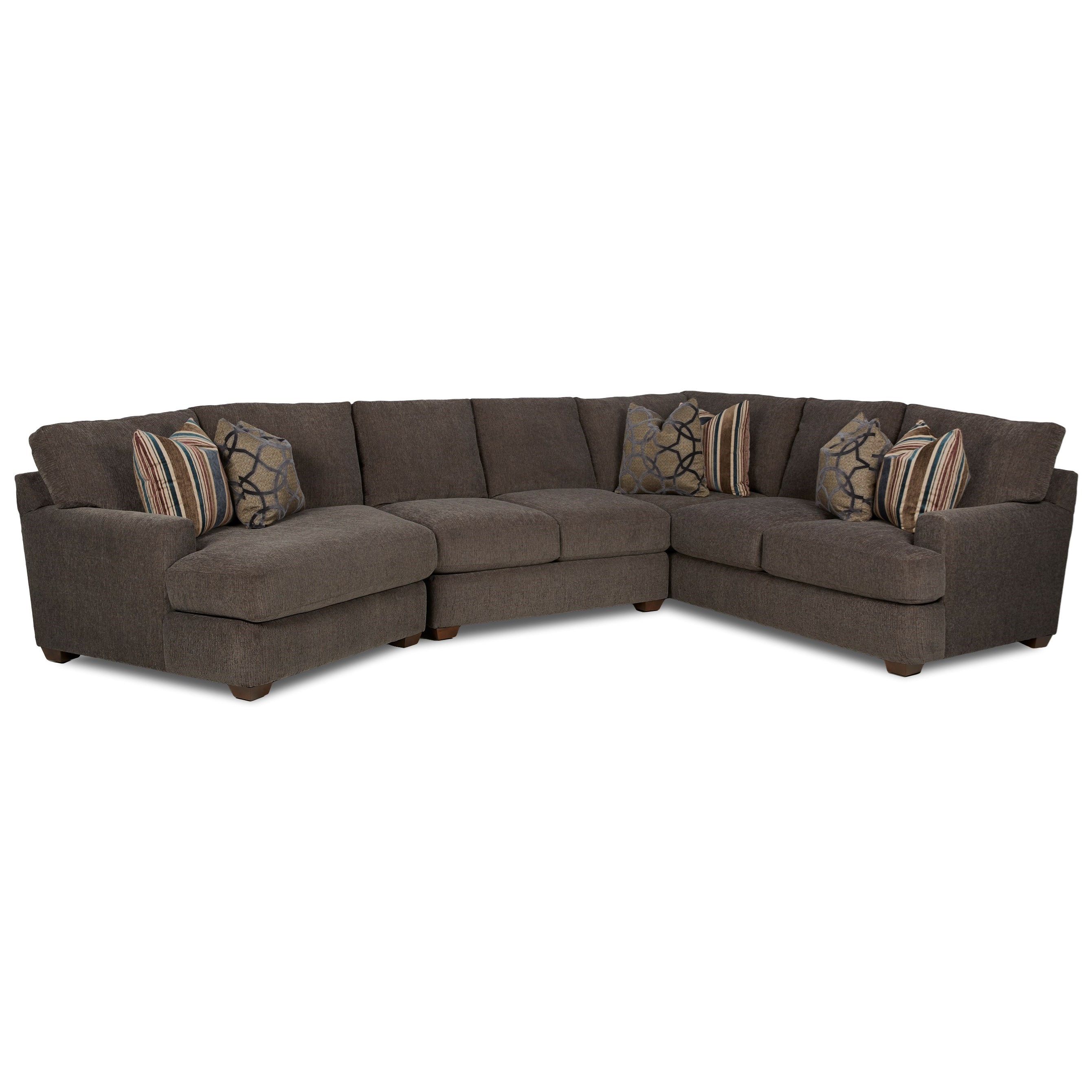 Three Piece Sectional Sofa with LAF Cuddler
