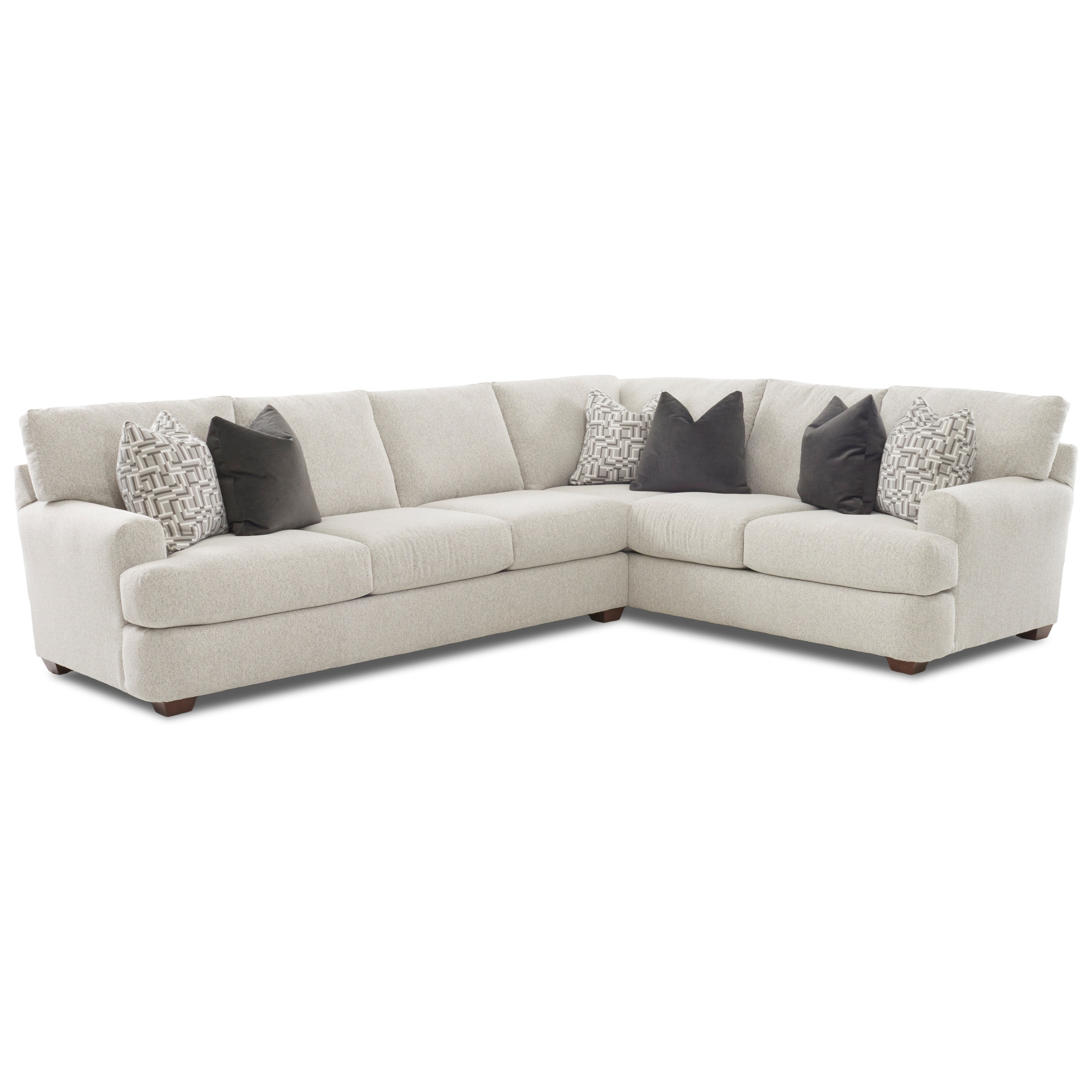 Two Piece Sectional Sofa with RAF Corner Sofa by Klaussner | Wolf ...