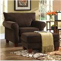 Klaussner Hideaway Upholstered Ottoman