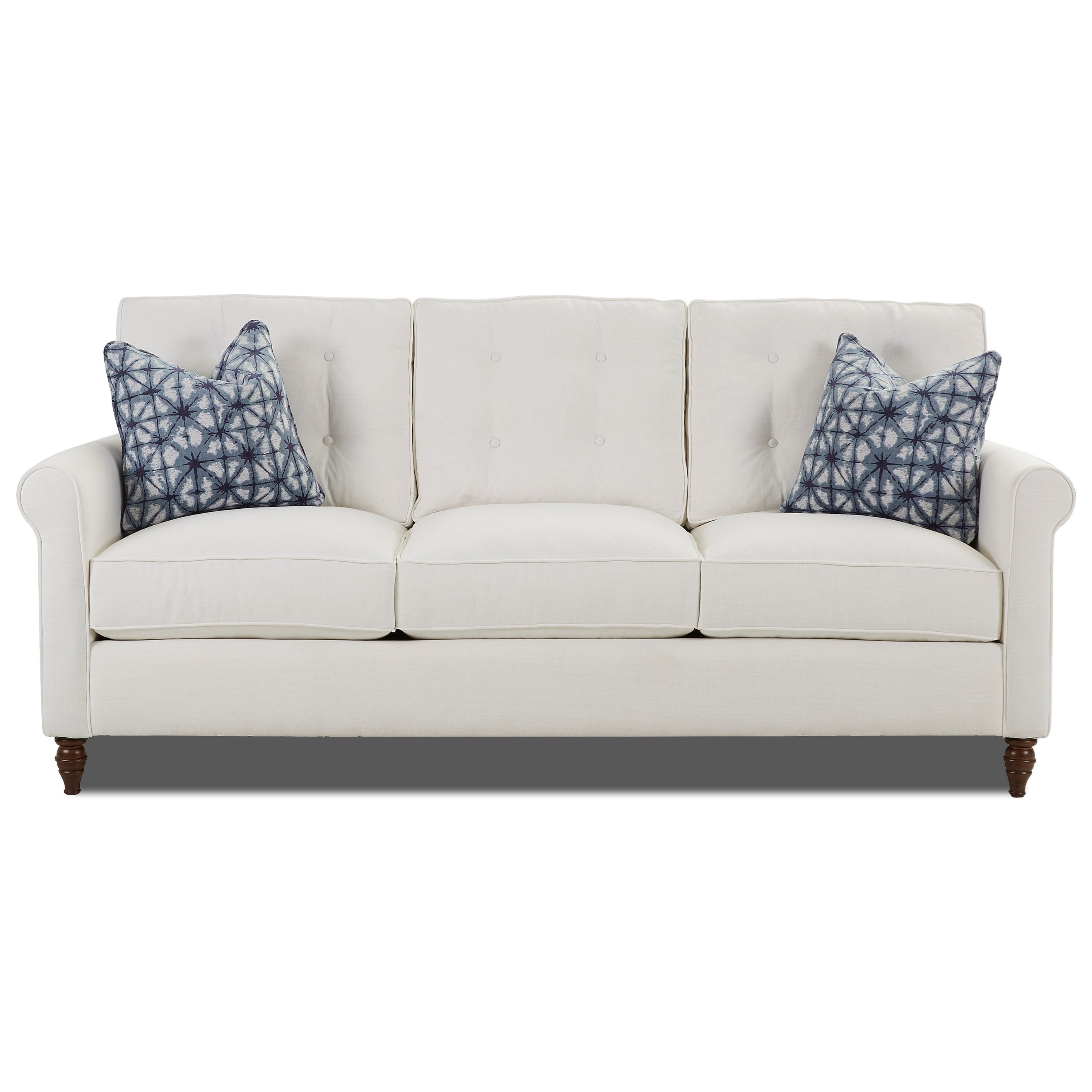 Traditional Sofa with Button Tufted Back Cushions by Klaussner