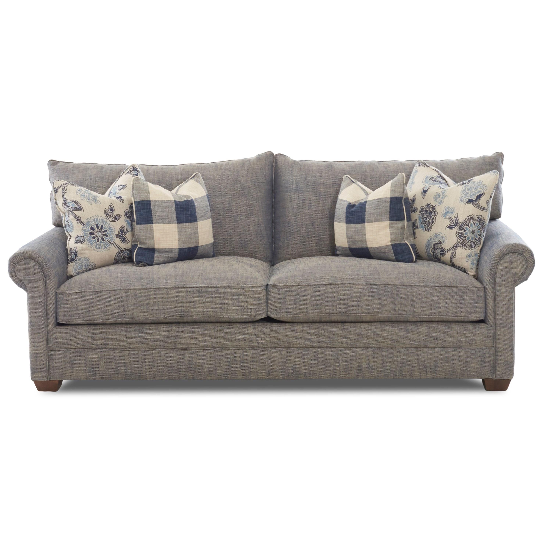 Traditional Two Cushion Sofa