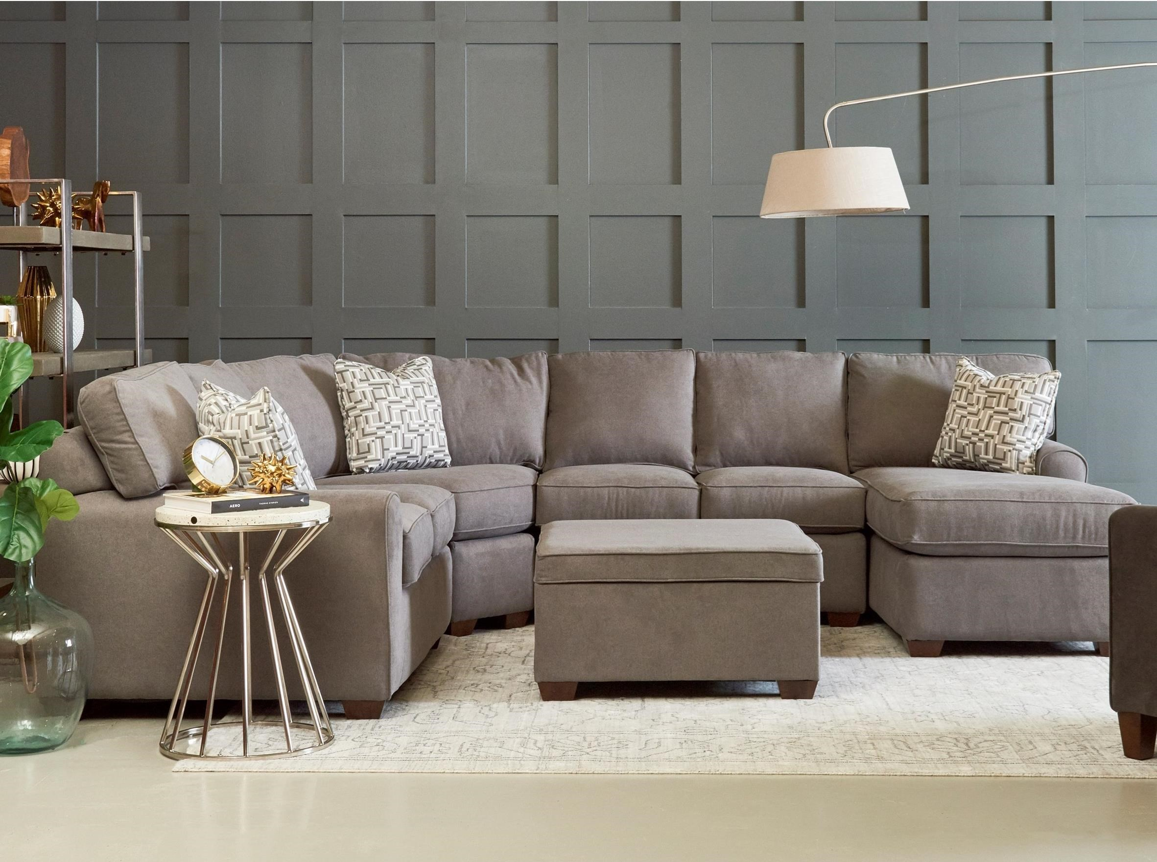 Four Piece Sectional Sofa with Right Facing Chaise
