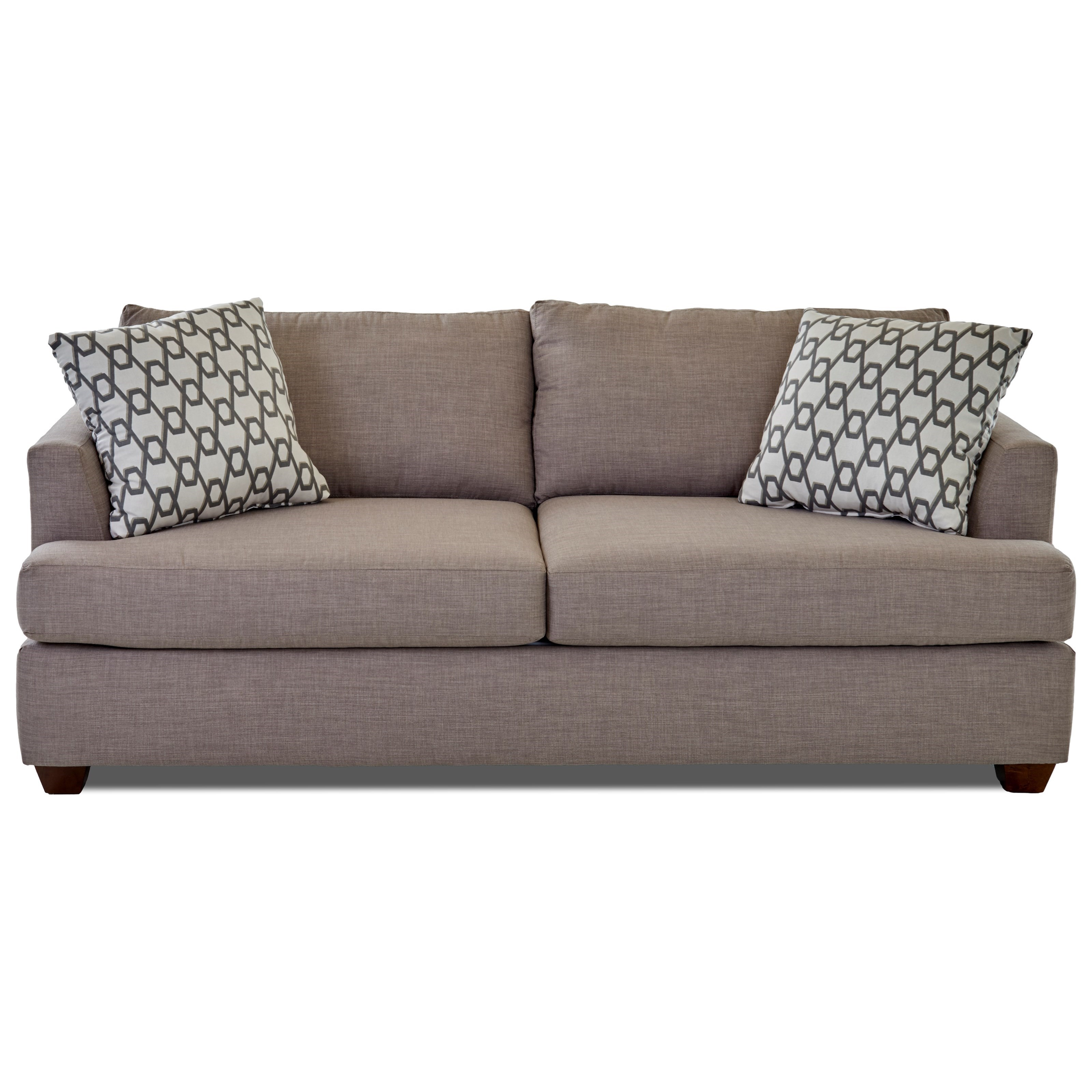 Queen Inner Spring Sleeper Sofa with Track Arms