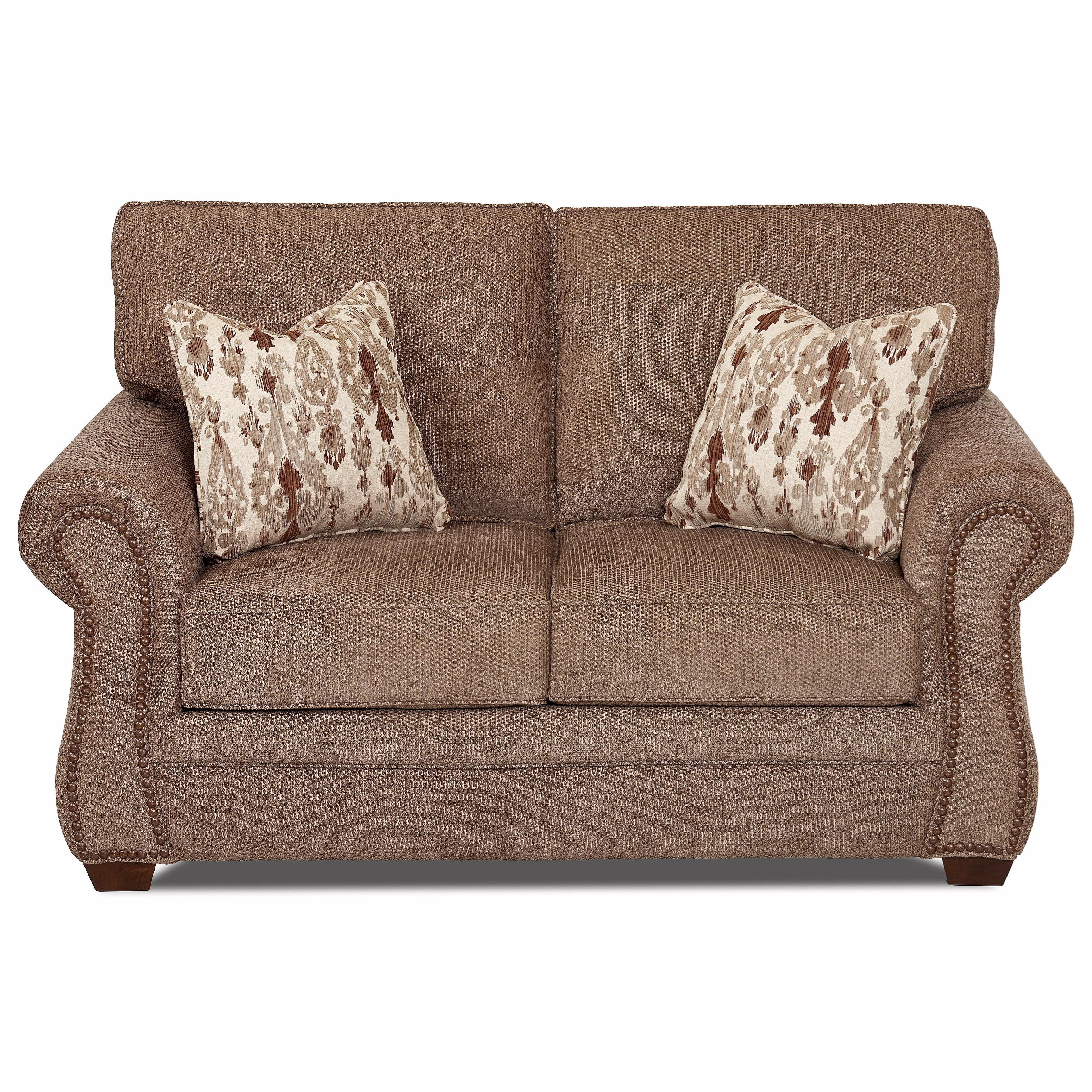 Traditional Loveseat with Nailhead Trim