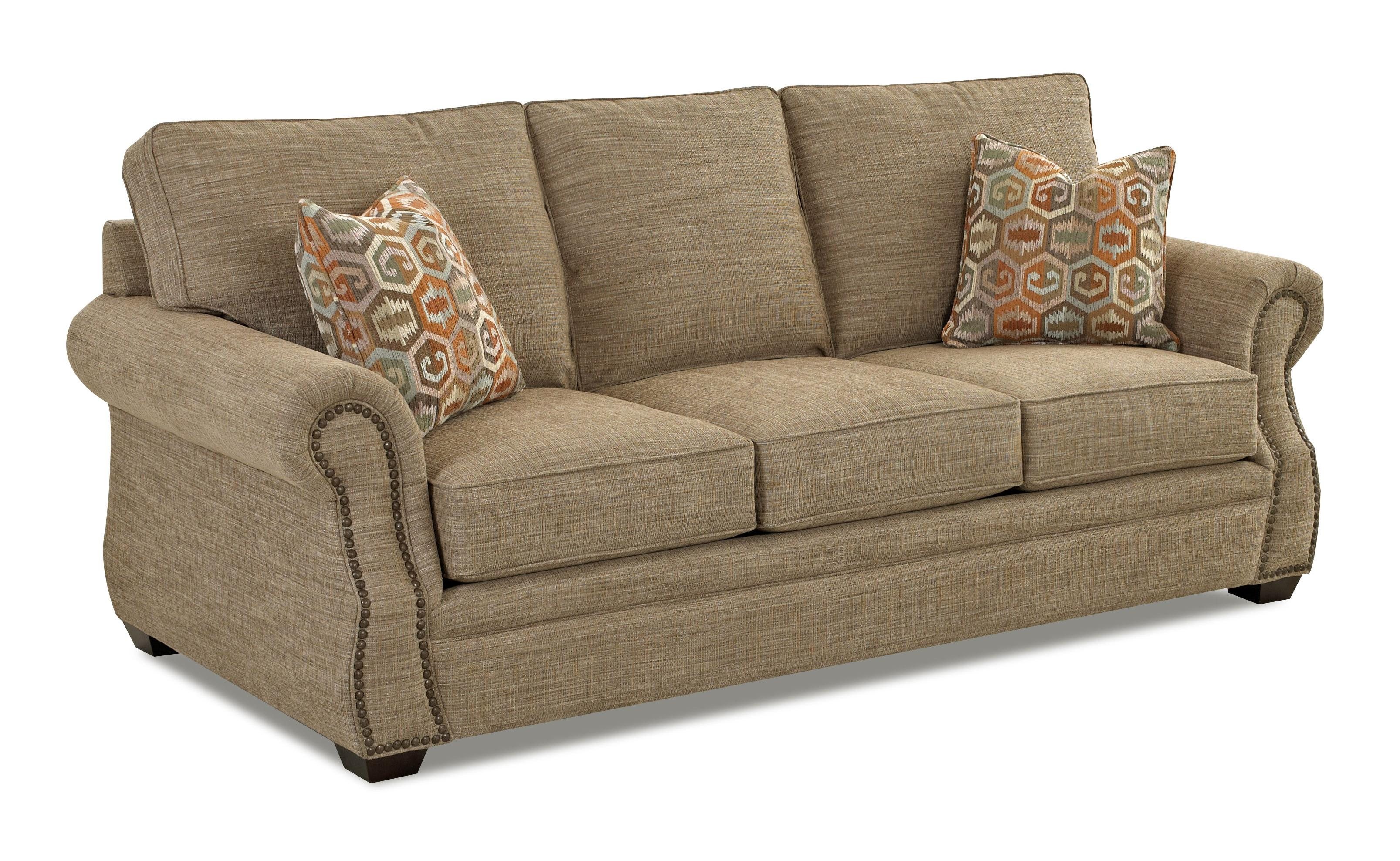 Traditional Enso Memory Foam Queen Sleeper Sofa With