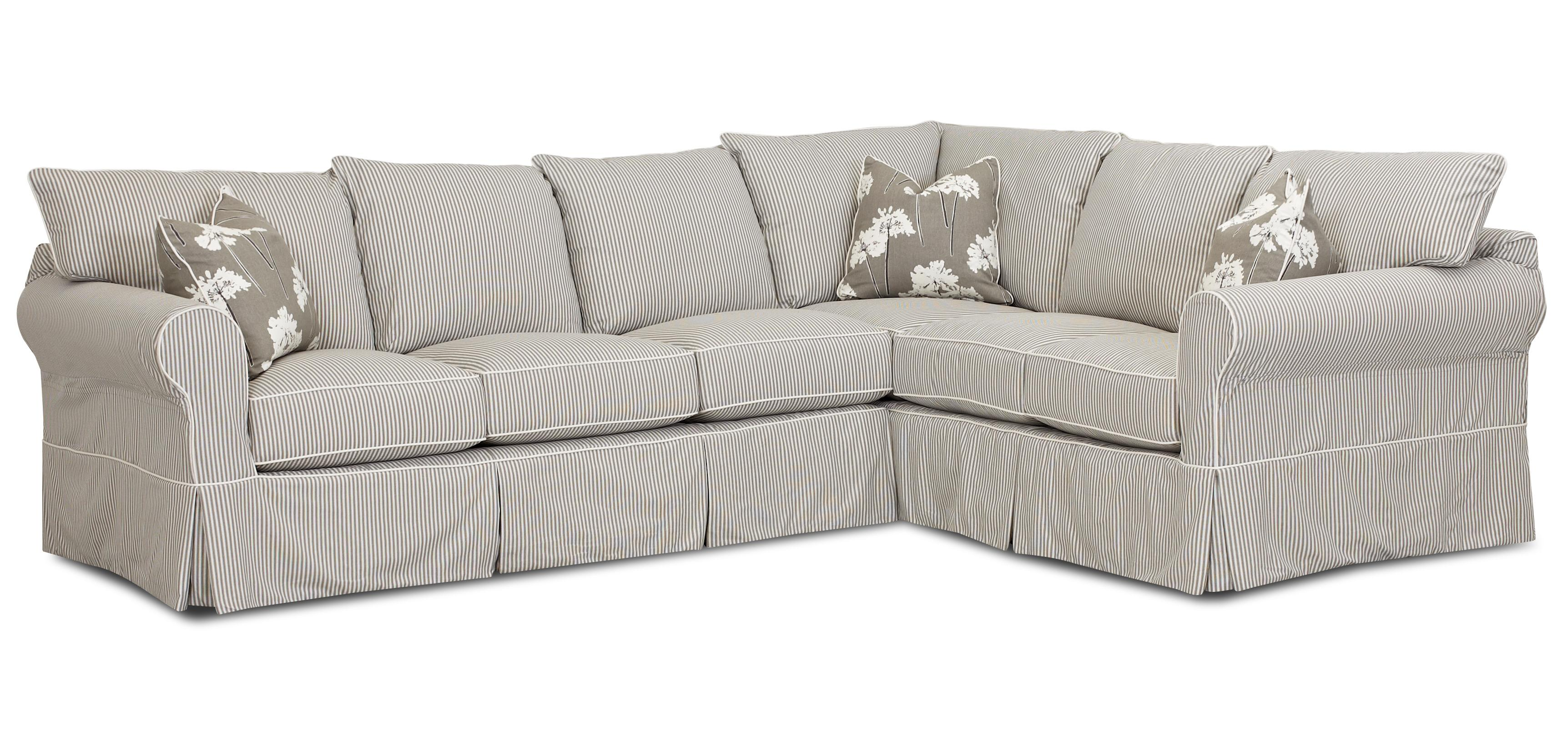Slipcover Sofa with Skirt by Klaussner